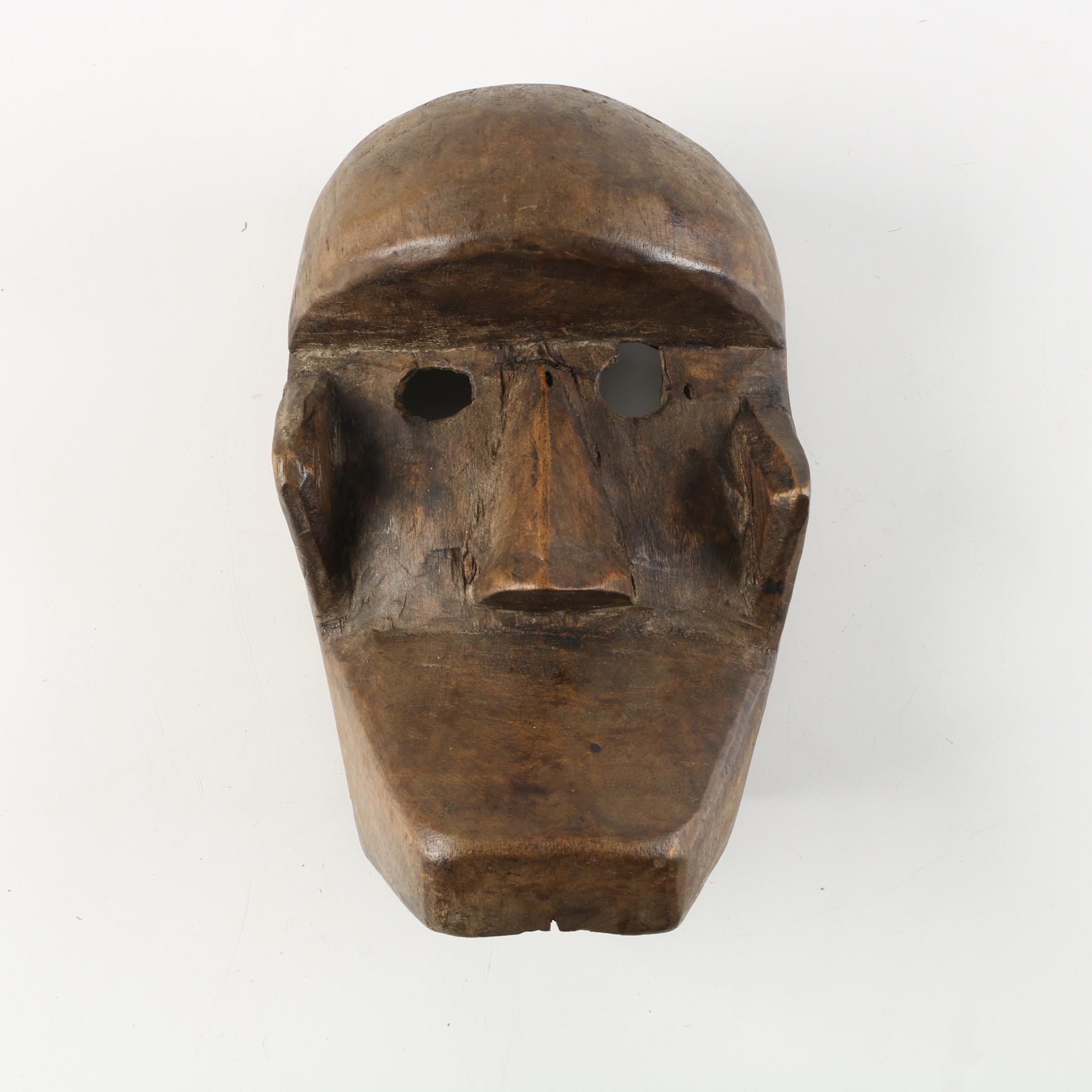 West African Krahn Style Carved Wood Mask