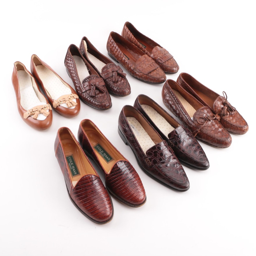 cfd74e7ac22 Women s Leather Loafers and Flats including Cole Haan and Brooks Brothers    EBTH