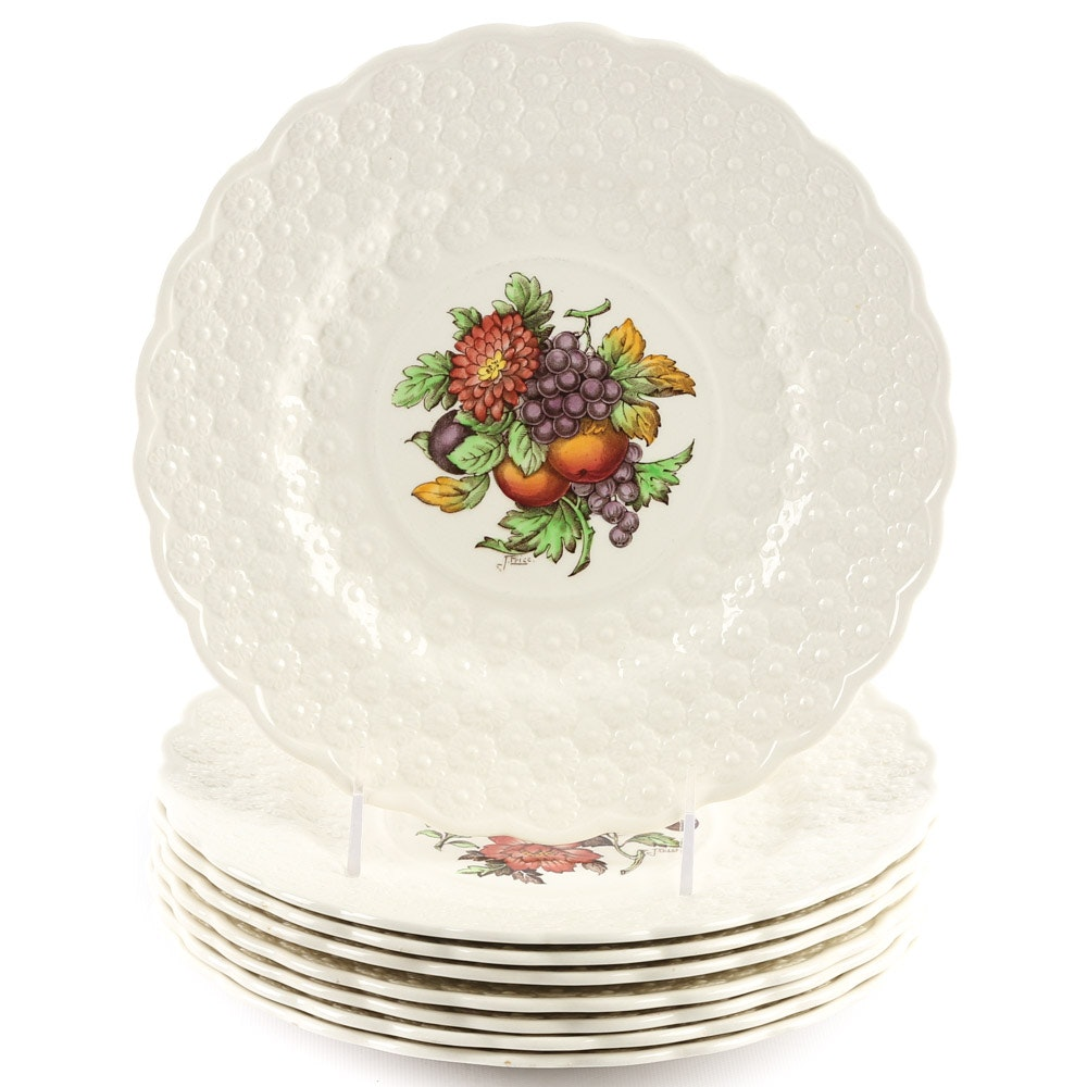 "Copeland Spode ""Alden"" Earthenware Luncheon Plates"