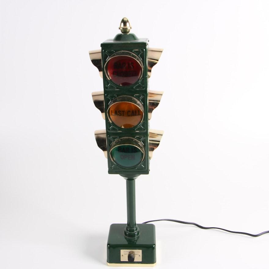 Vintage Novelty Traffic Signal Bar Lamp
