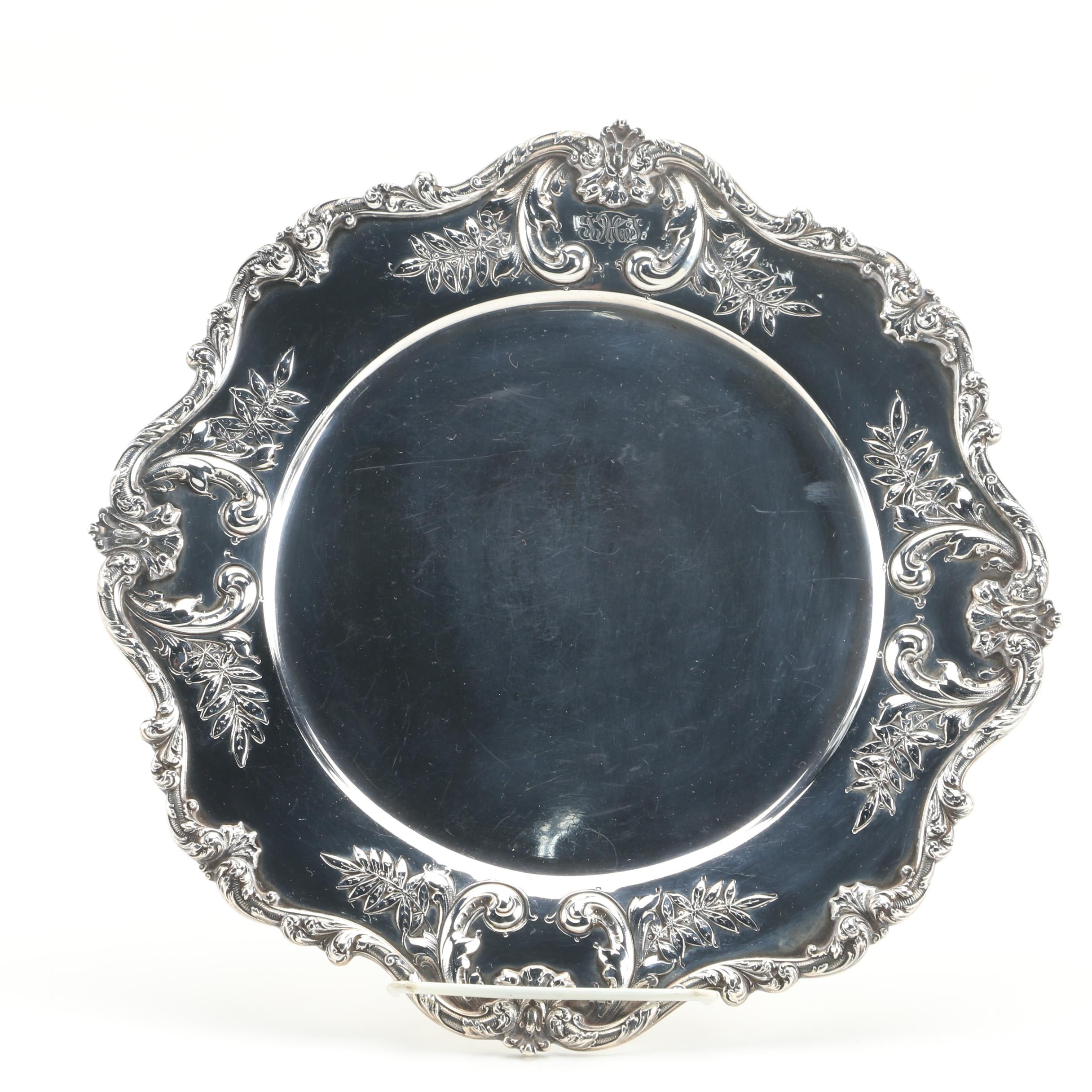 Early 20th Century Dominick & Haff Sterling Silver Repoussé Tray