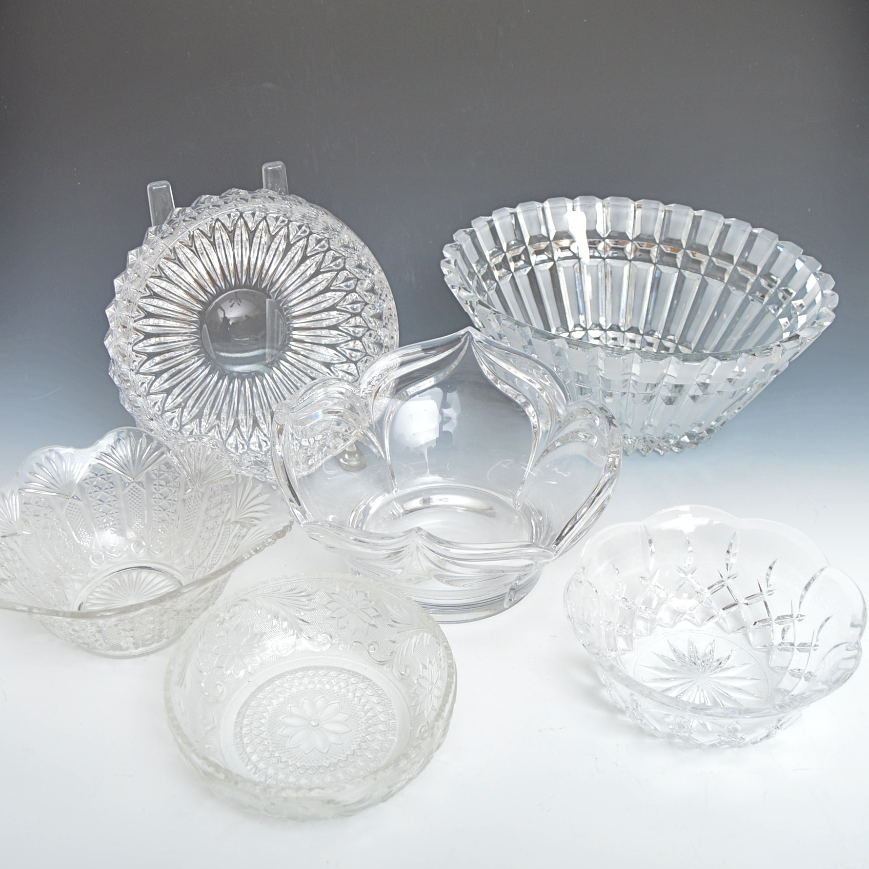 """Gorham """"Lady Anne"""" and Assorted Crystal and Pressed Glass Bowls"""