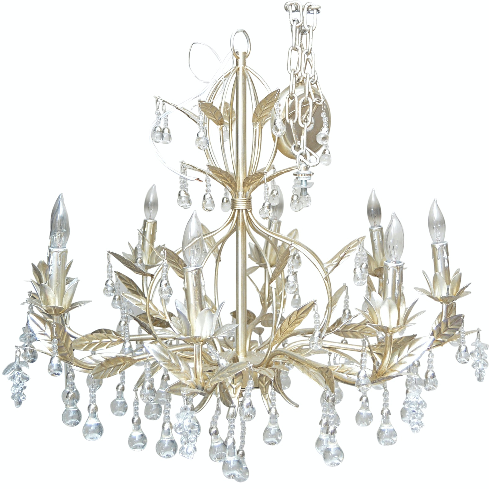 Hollywood Regency Style Eight-Arm Chandelier