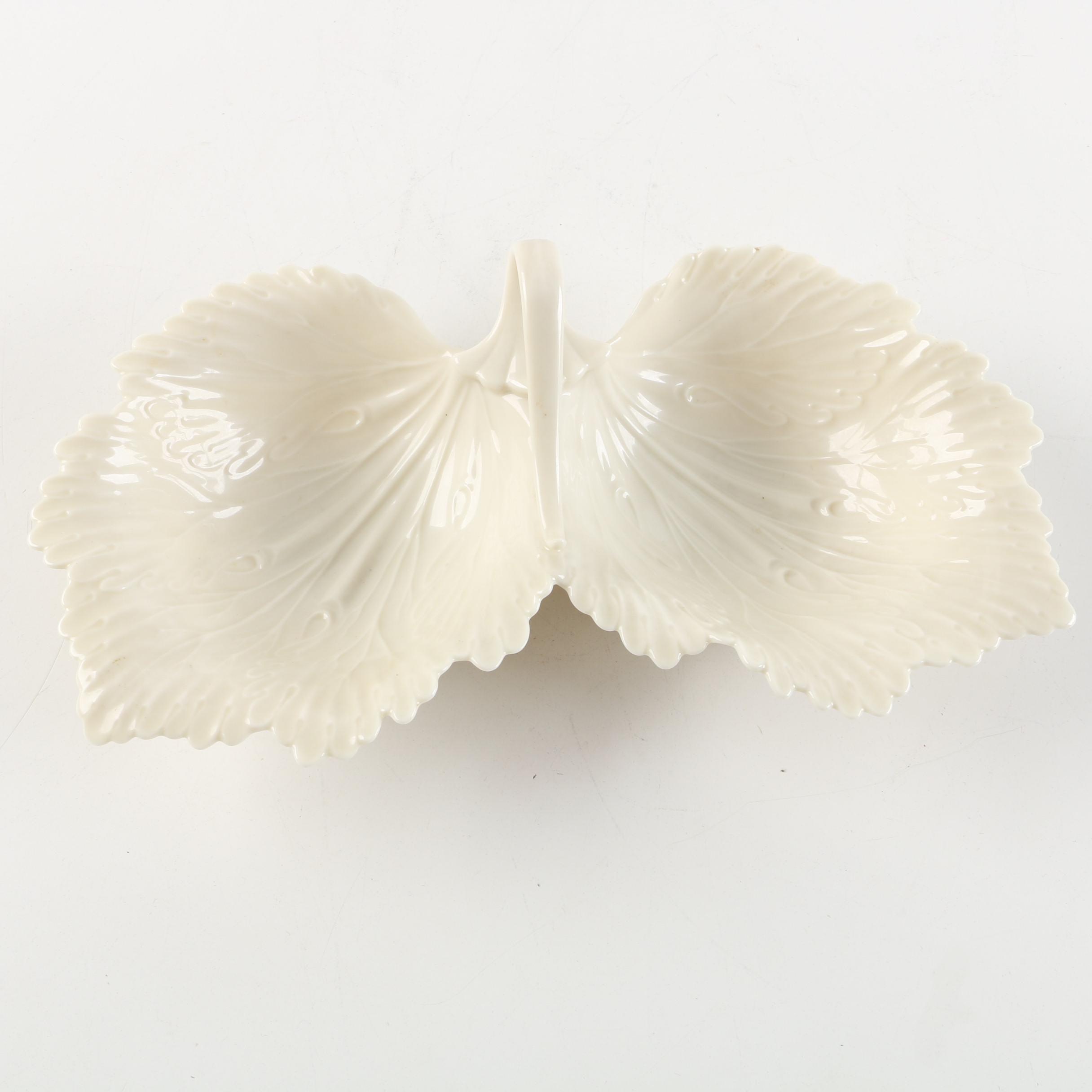 Vintage Lenox Divided Leaf Porcelain Serving Dish