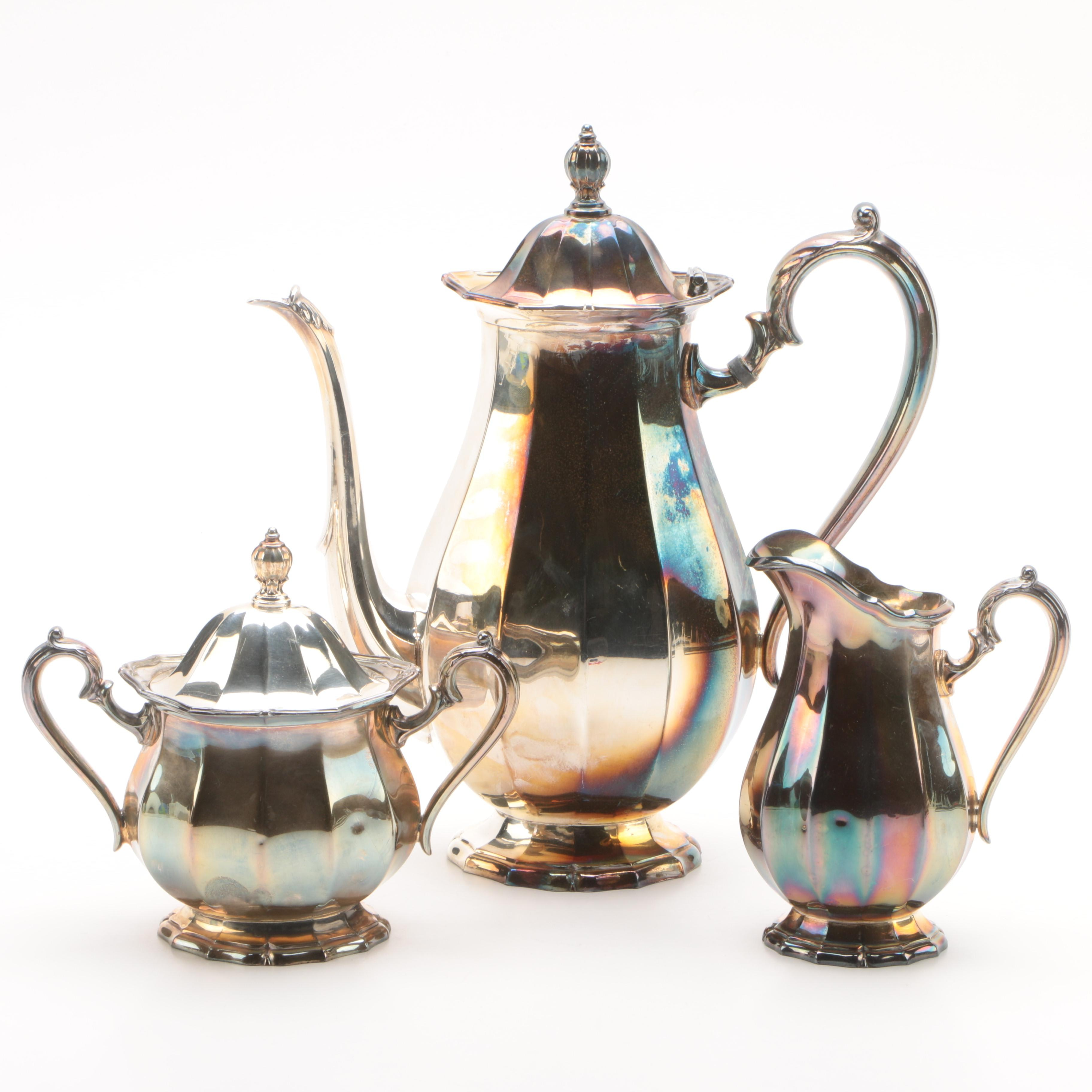 Webster-Wilcox Silver Plate Three-Piece Coffee Set