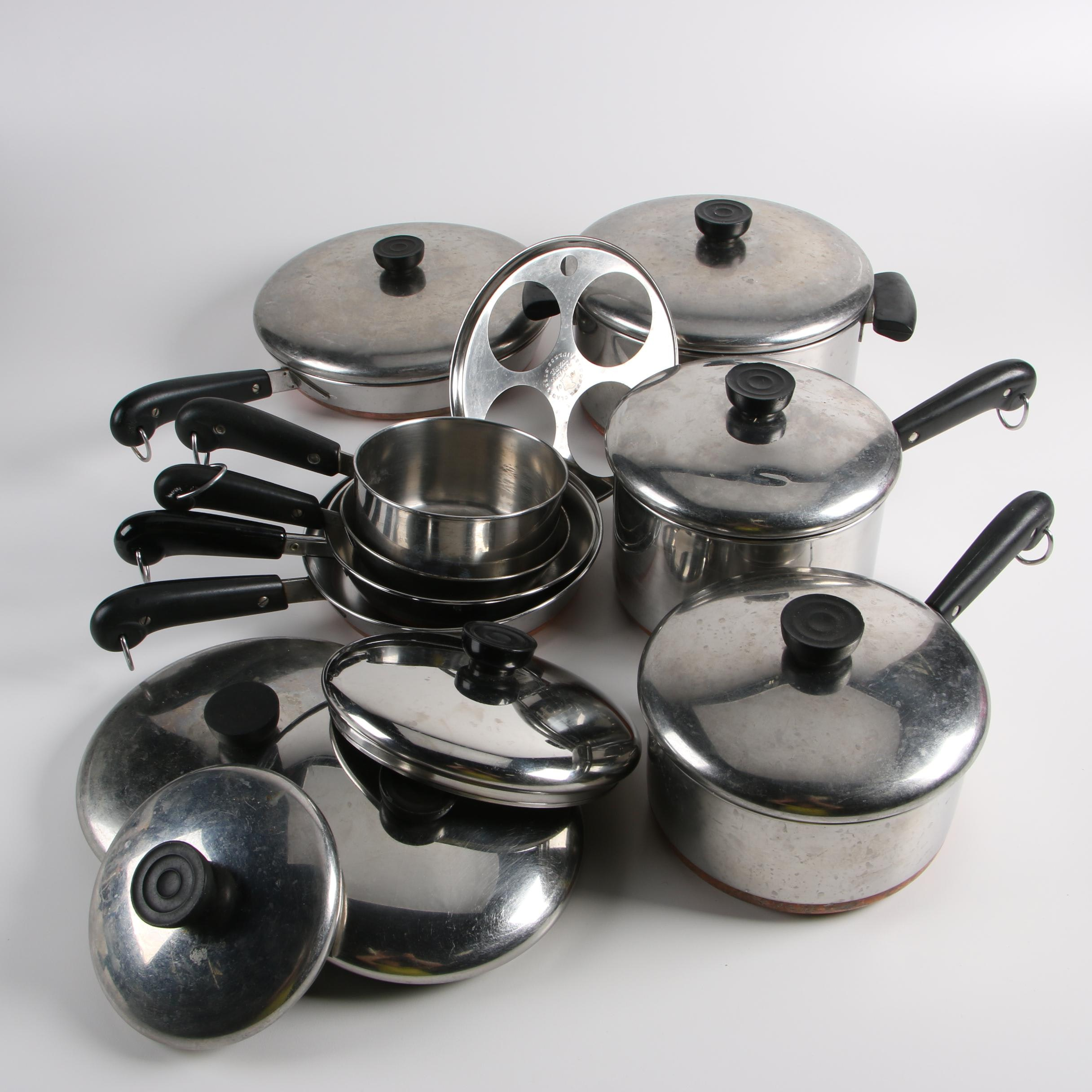 Revere-Ware Stainless Cookware with Copper Bottoms