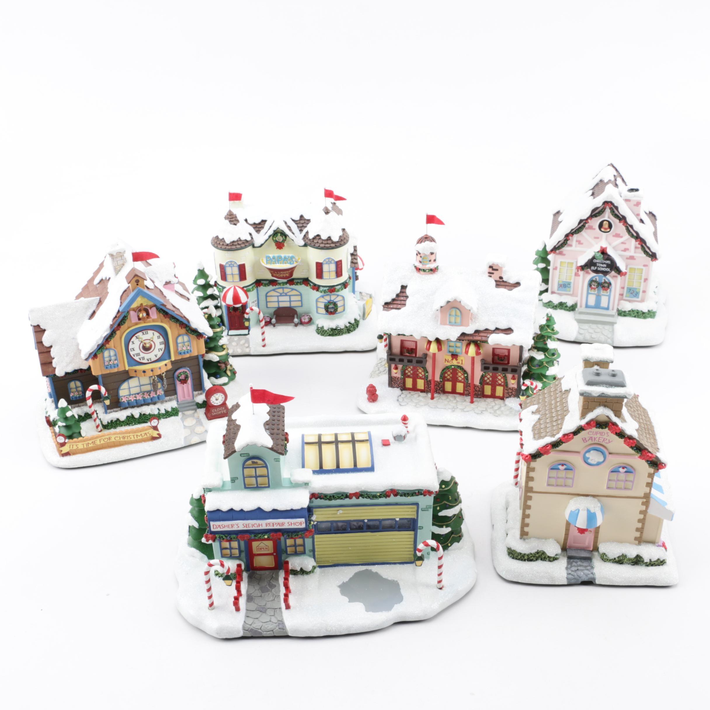 Hawthorne Village Light-Up Christmas Village Structures