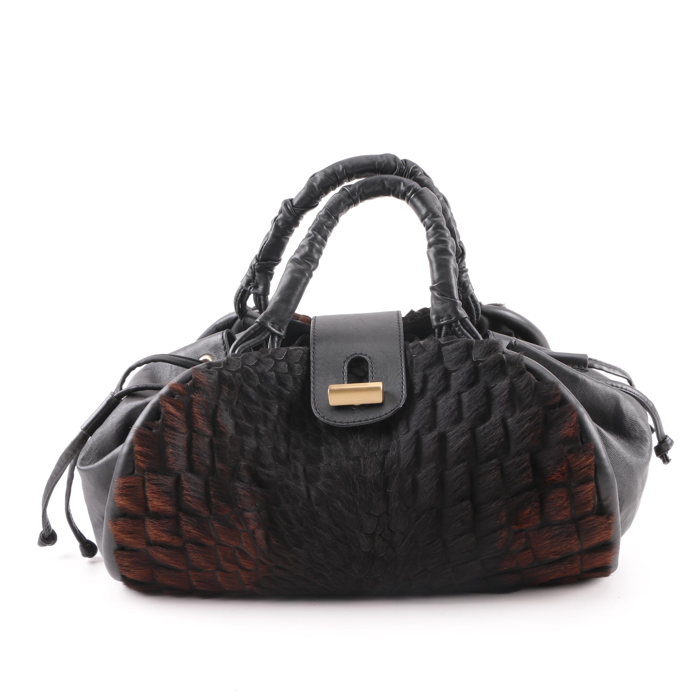 Piazza Sempione Leather and Calf Hair Satchel