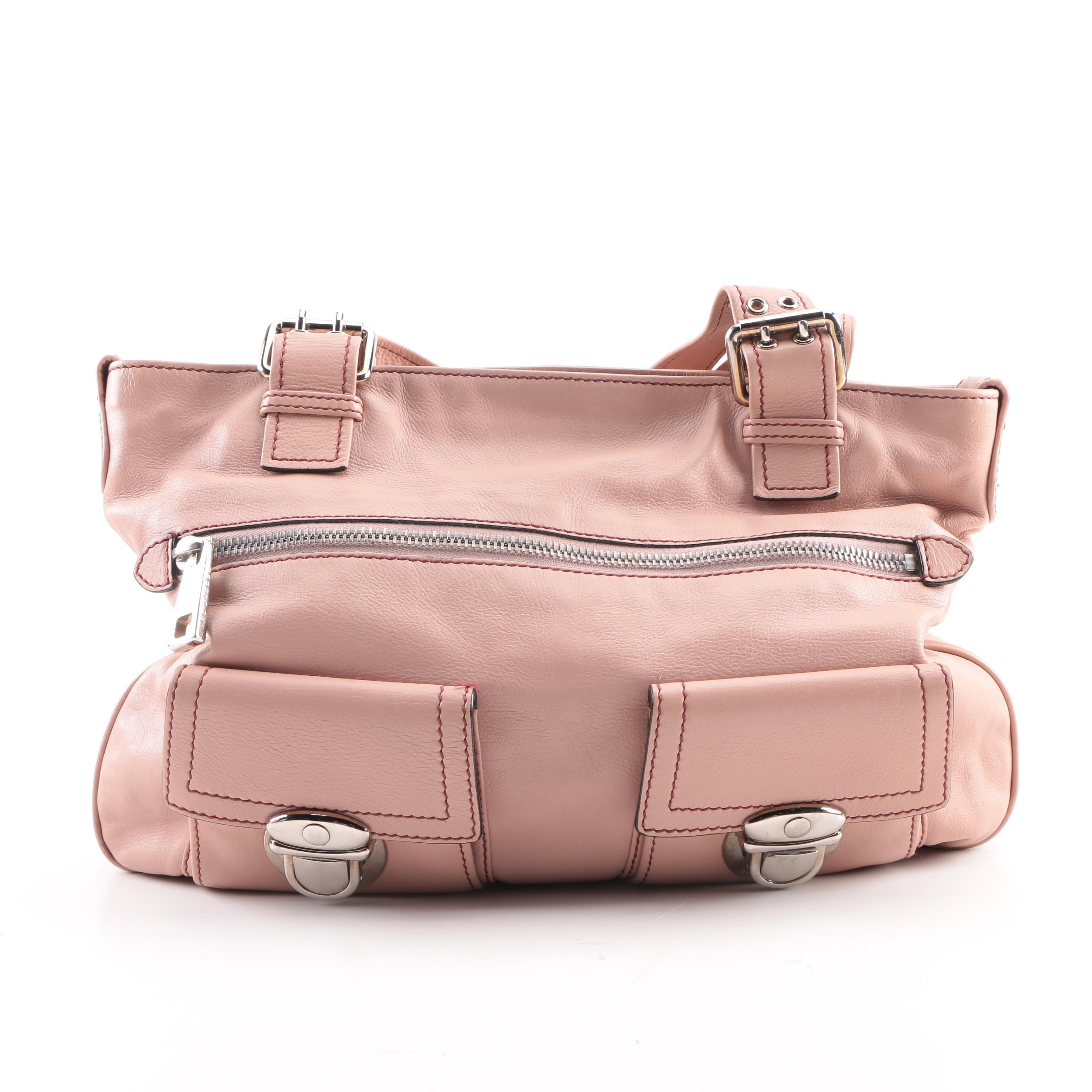 Marc Jacobs Pink Leather Shoulder Bag