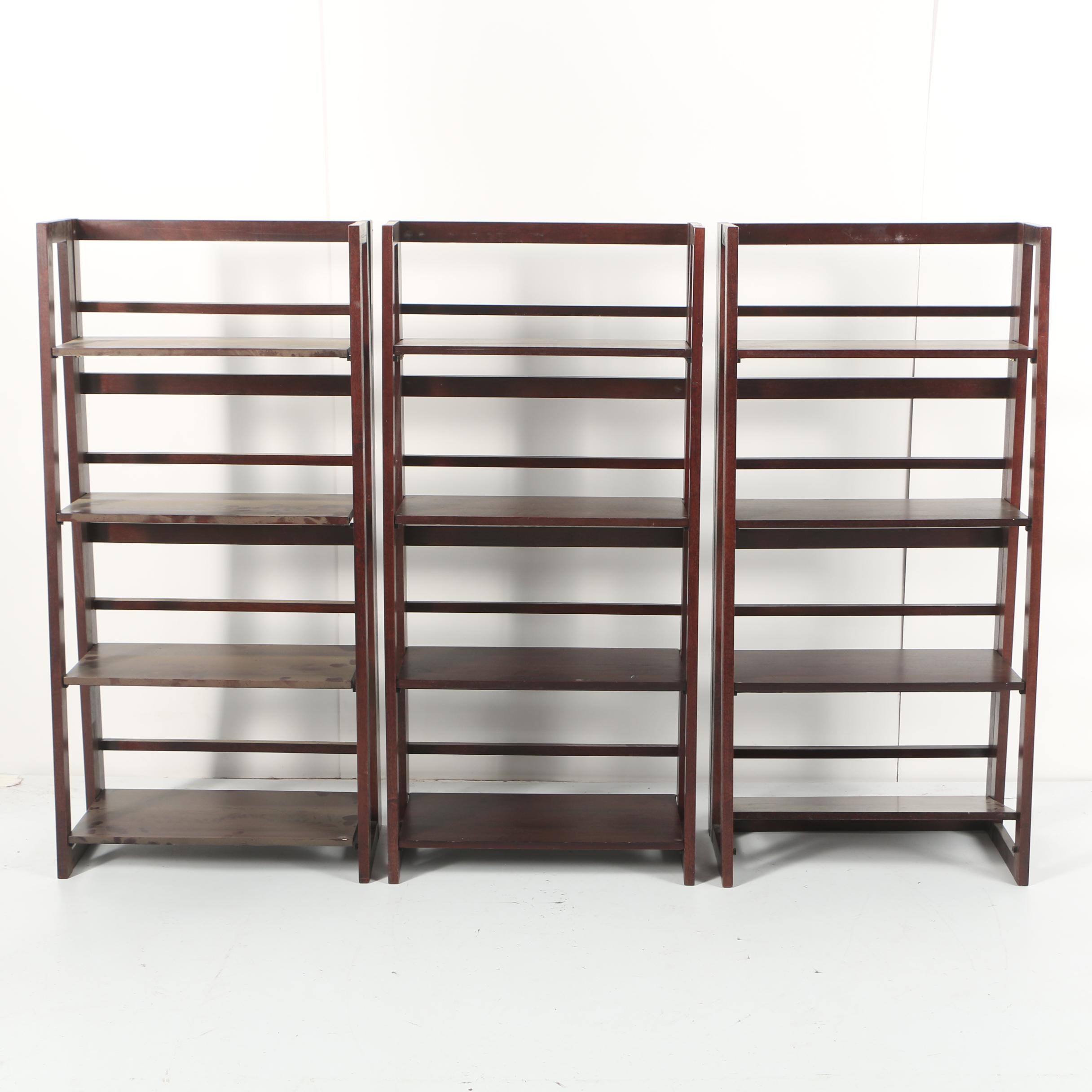 Three Folding Book Shelves