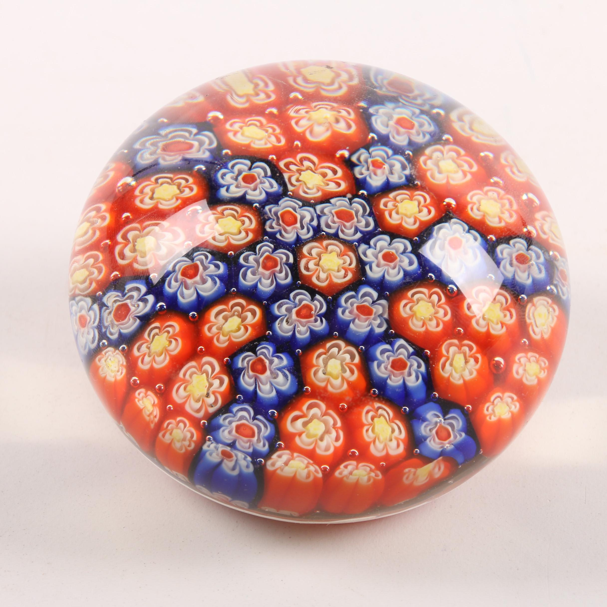 Silvestri Millefiori Art Glass Paperweight