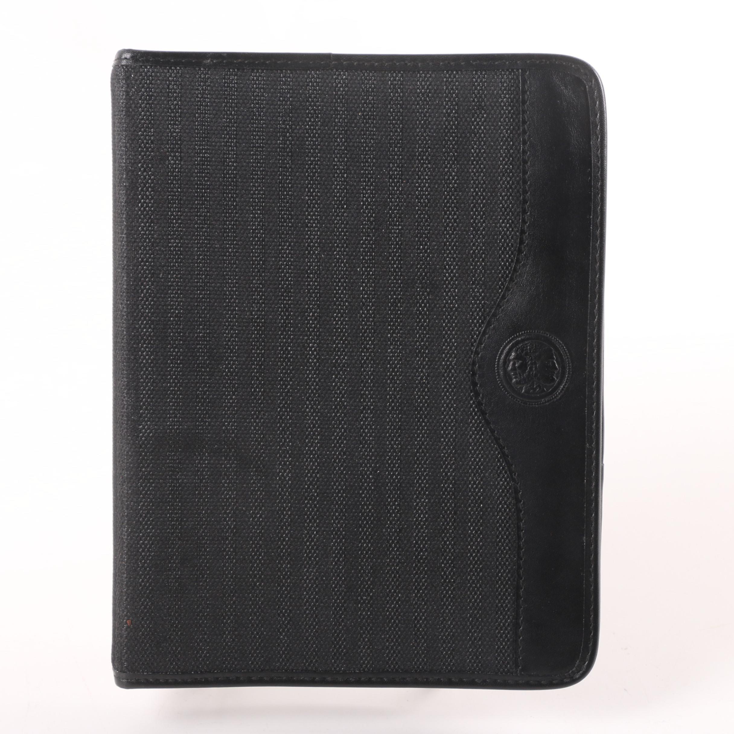 Fendi Black Striped Address Book