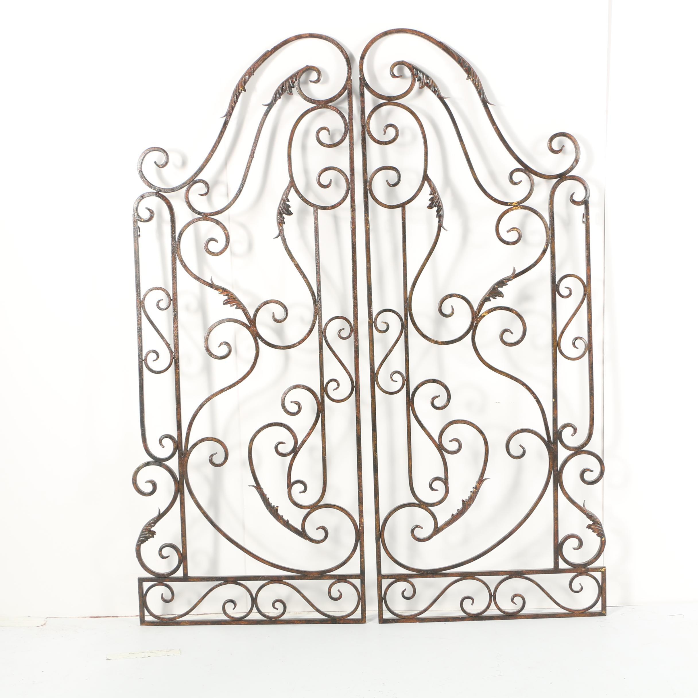 Decorative Scrolled Metalwork Gate Wall Hangings