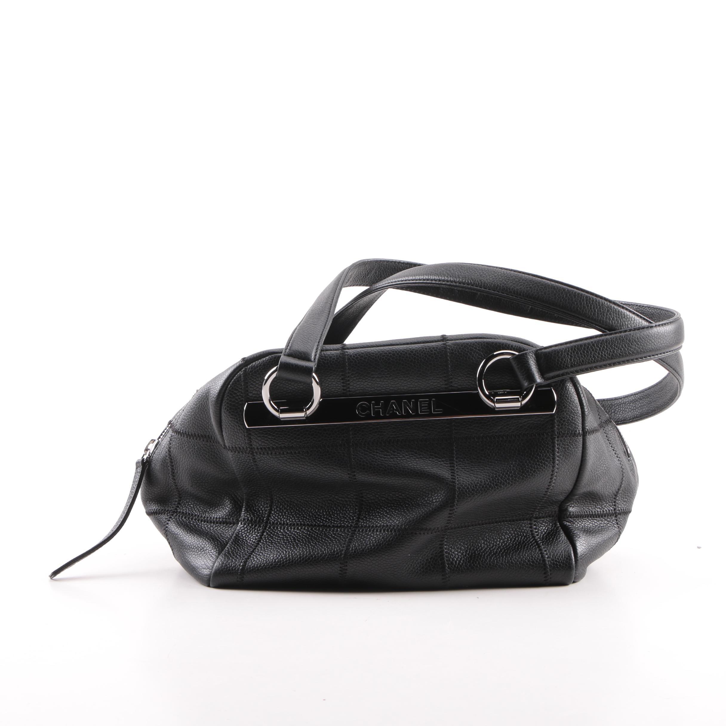 Chanel Black Leather Satchel