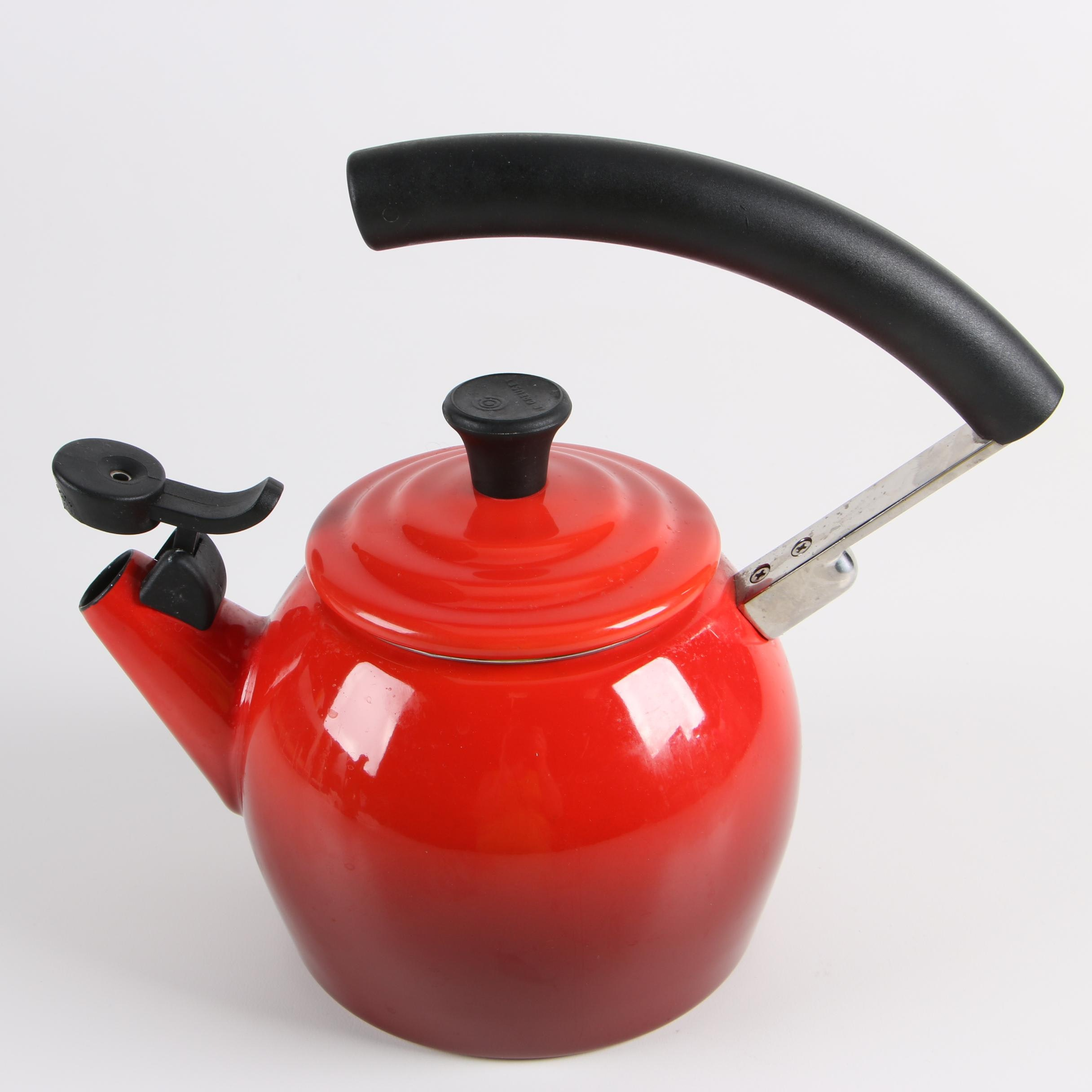 Le Creuset Red Enameled Tea Kettle