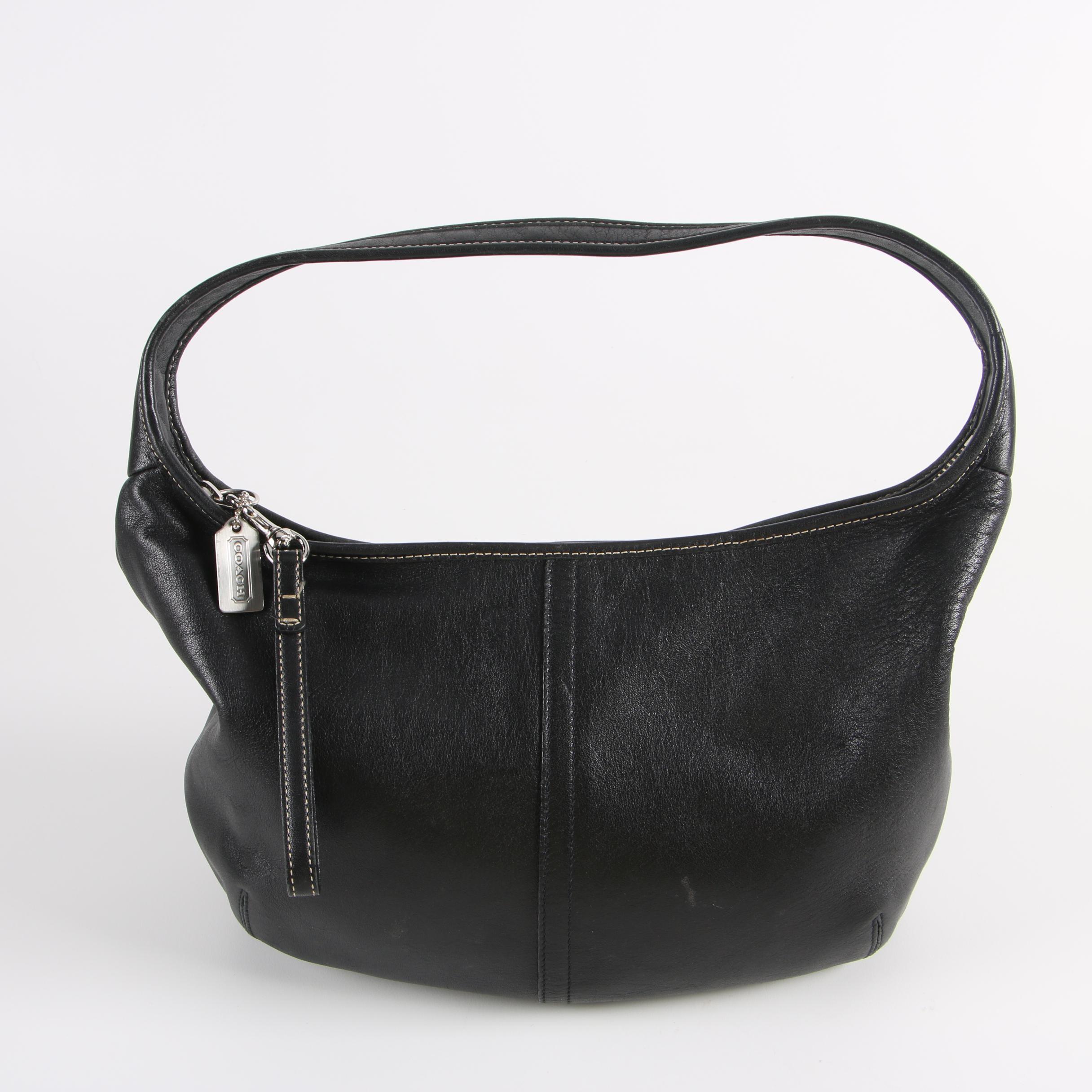 Coach Ergo Black Leather Hobo Bag