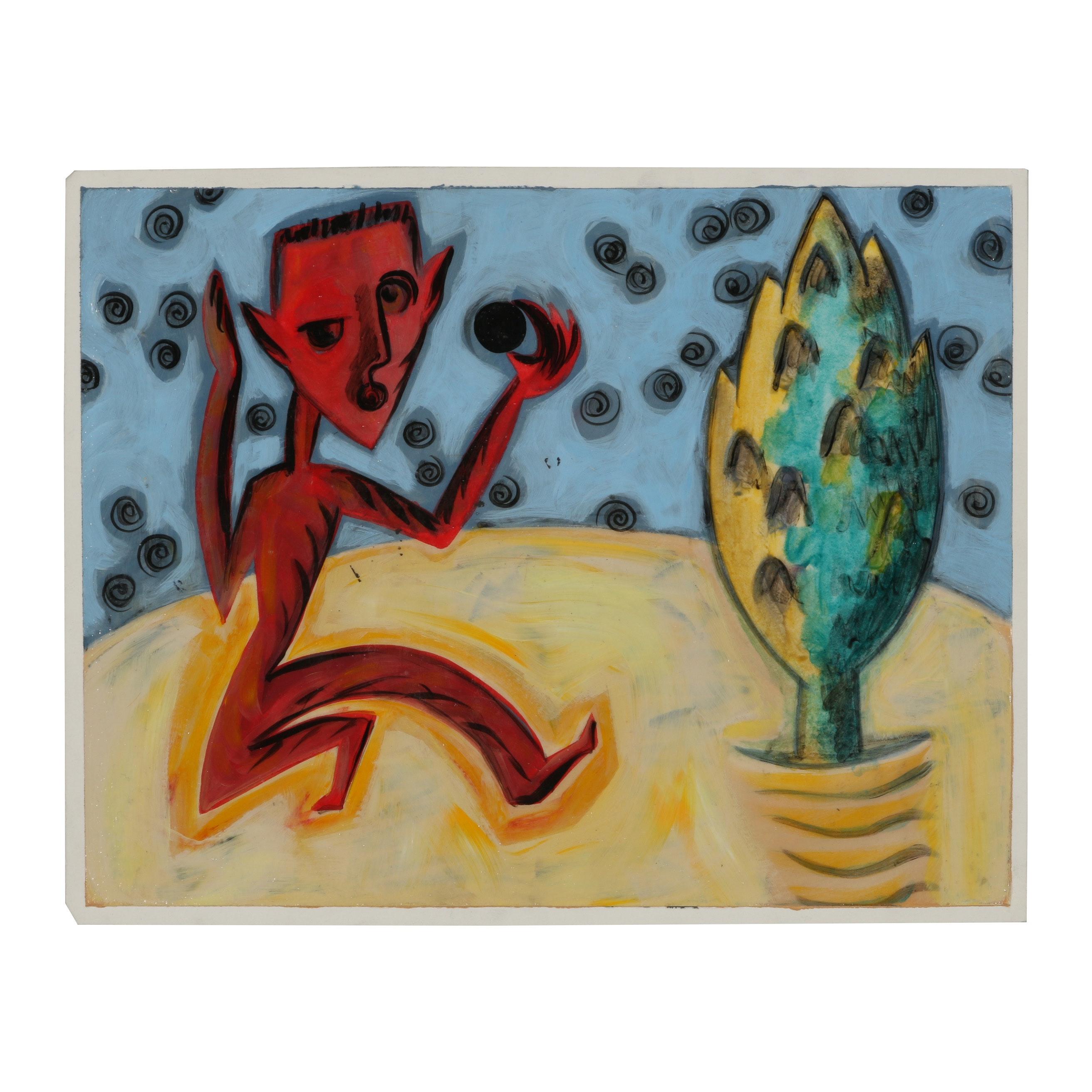 Merle Rosen Acrylic Painting