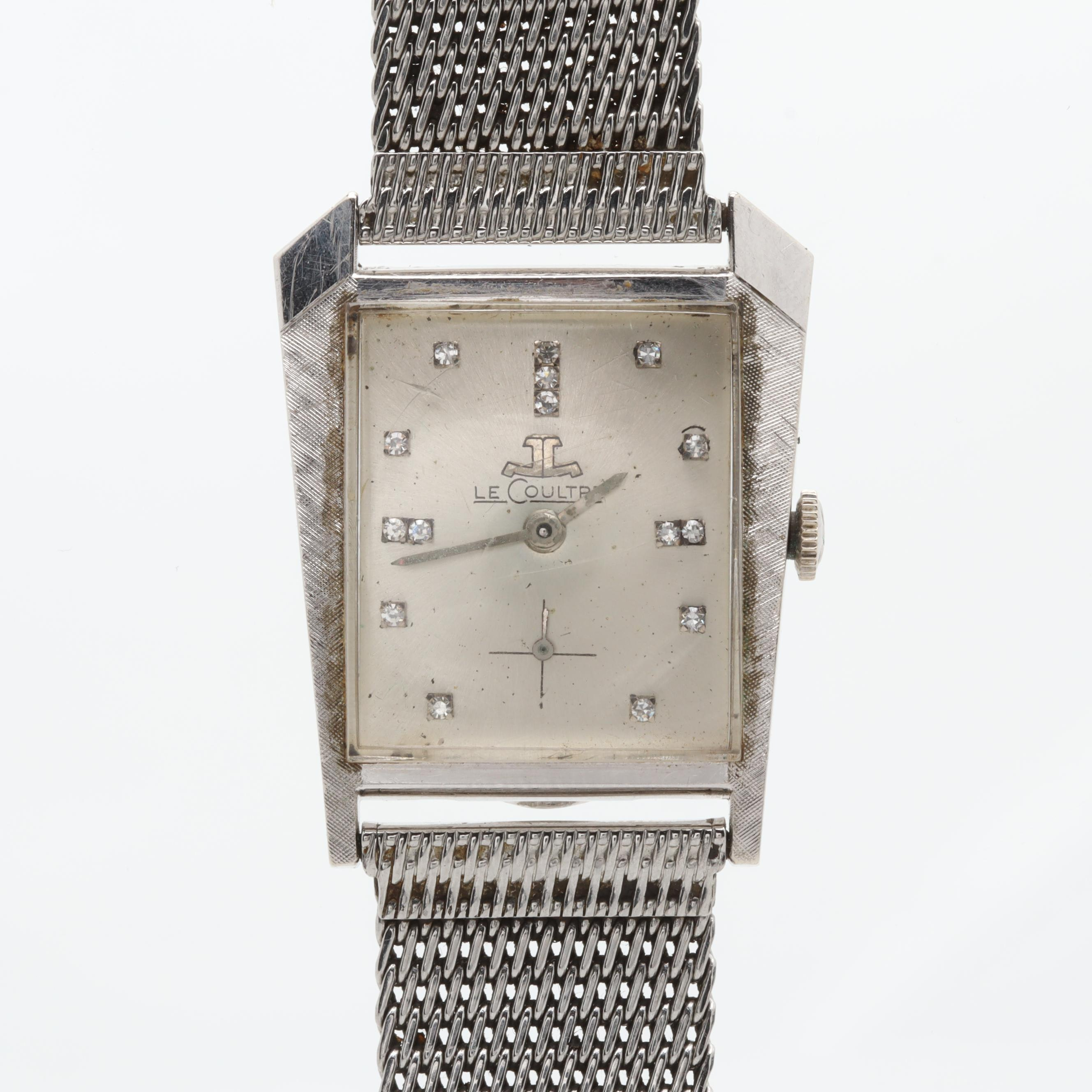 LeCoultre 14K White Gold Diamond Wristwatch