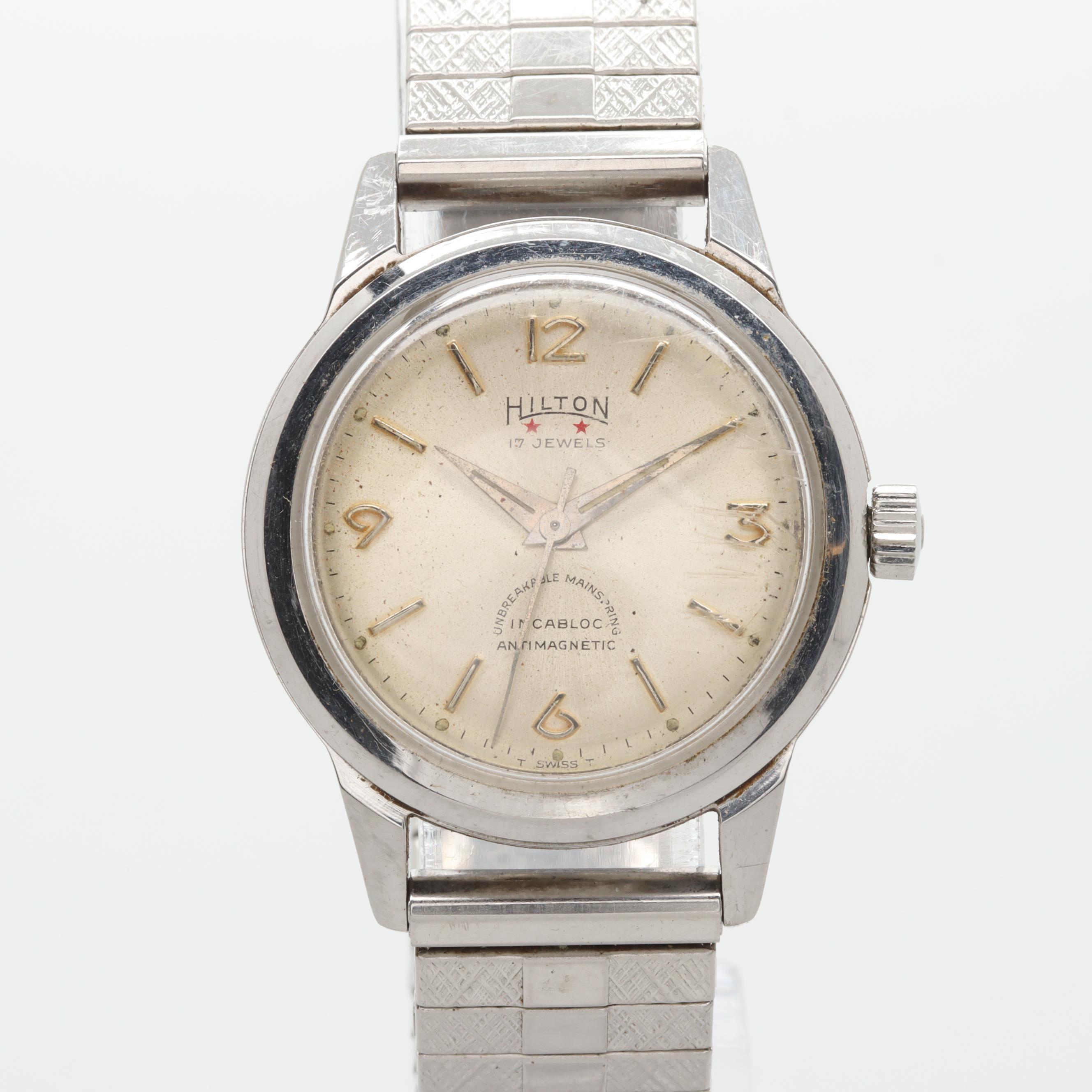 Vintage Hilton Swiss Stem Wind Wristwatch