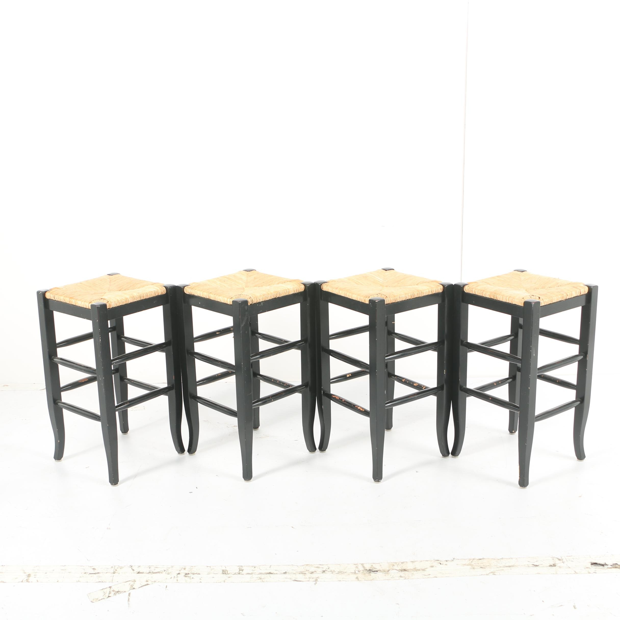 Rush Seat Backless Stools