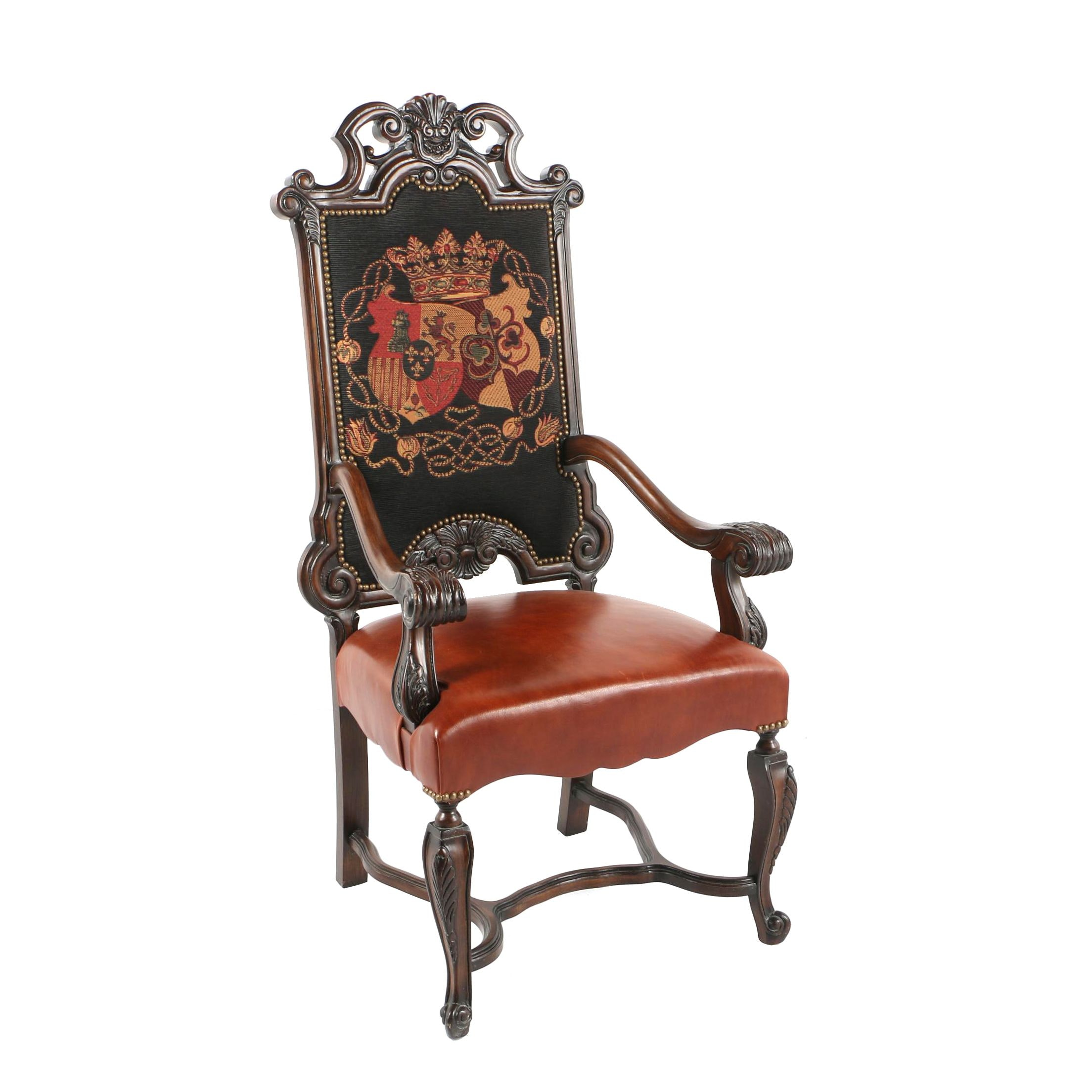 Coat of Arms Tapestry Upholstered Armchair  sc 1 st  EBTH.com : louis 14 chair - Cheerinfomania.Com