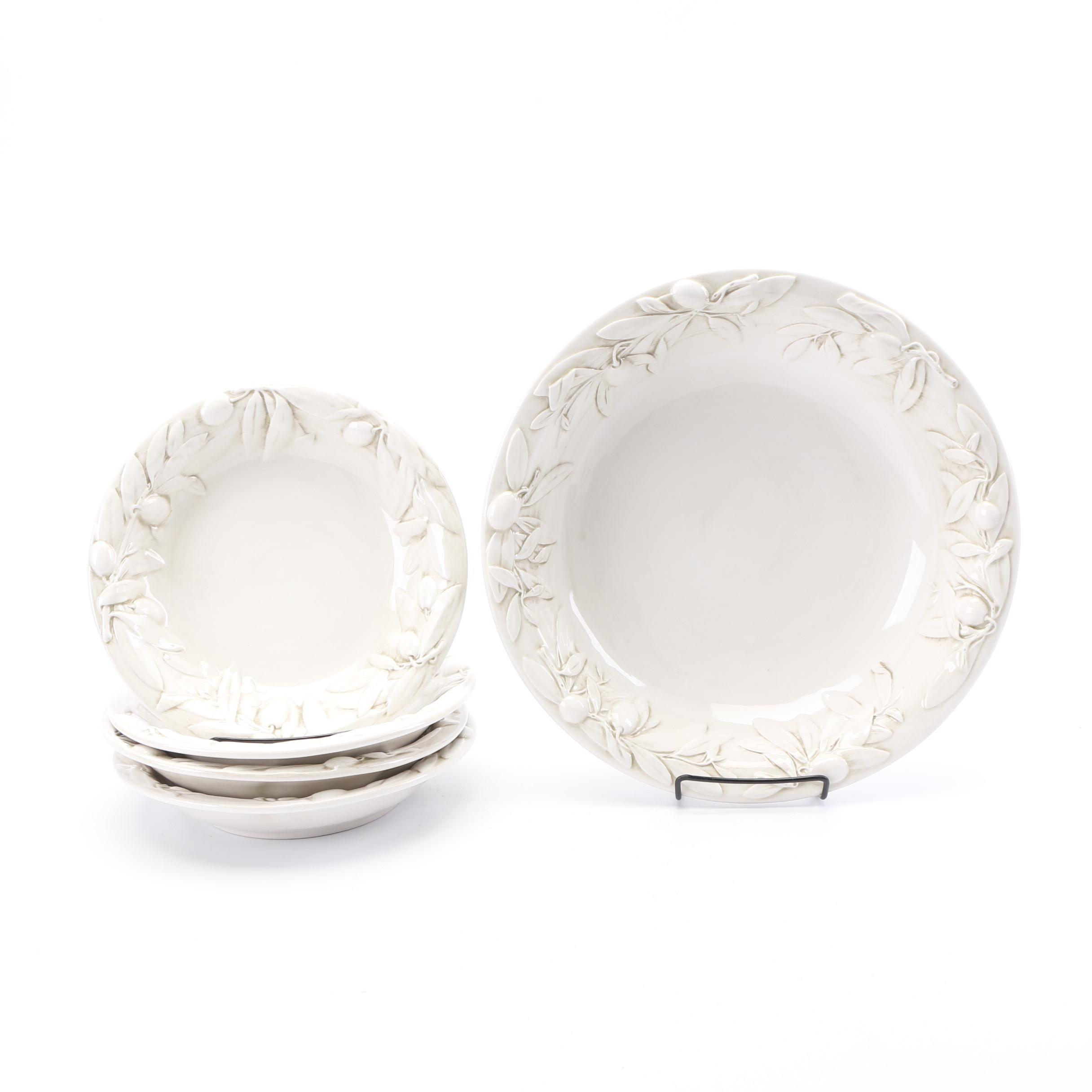 """Williams-Sonoma """"Tuscan Olive"""" Ceramic Dinnerware"""
