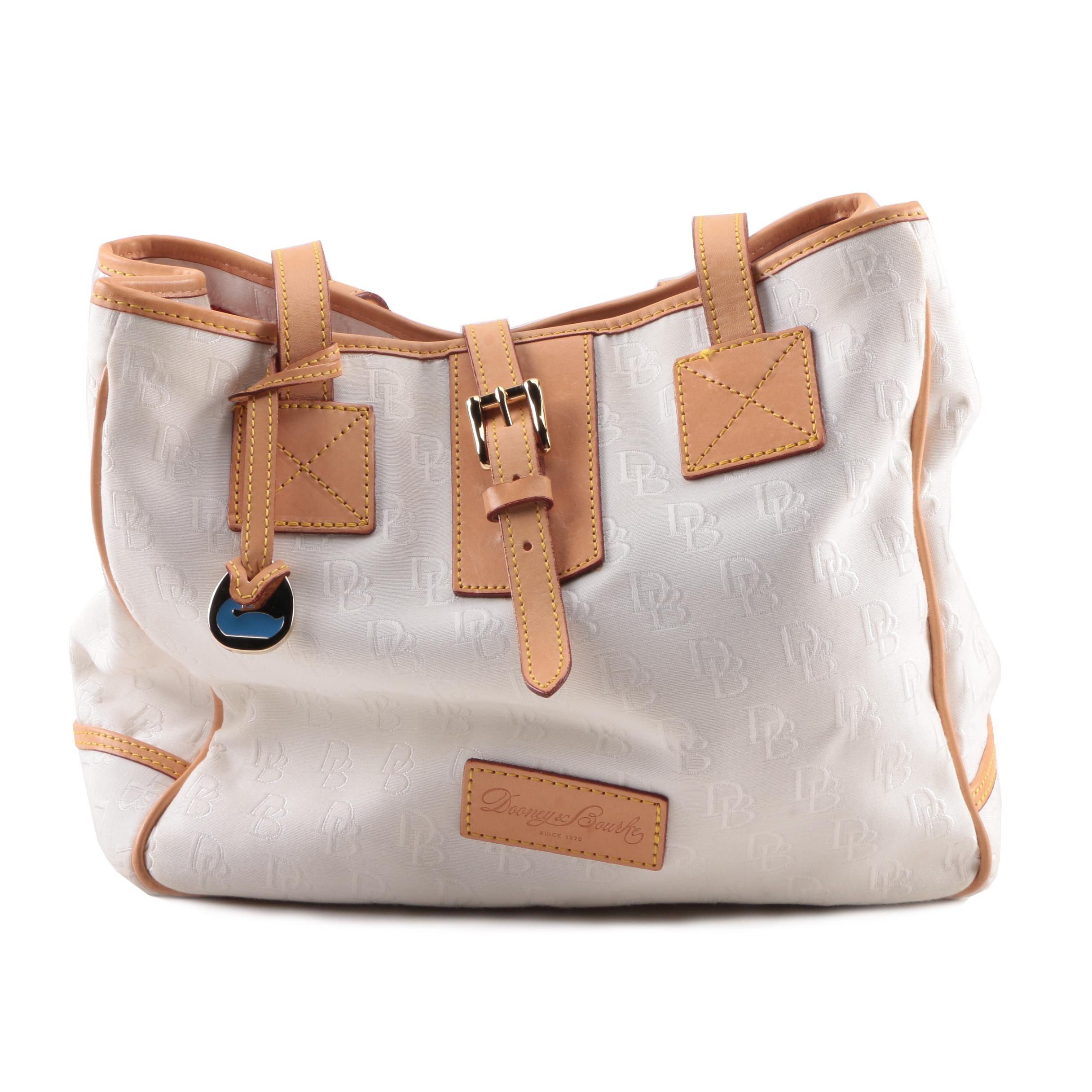 Dooney & Bourke Monogram Canvas and Leather Shoulder Bag