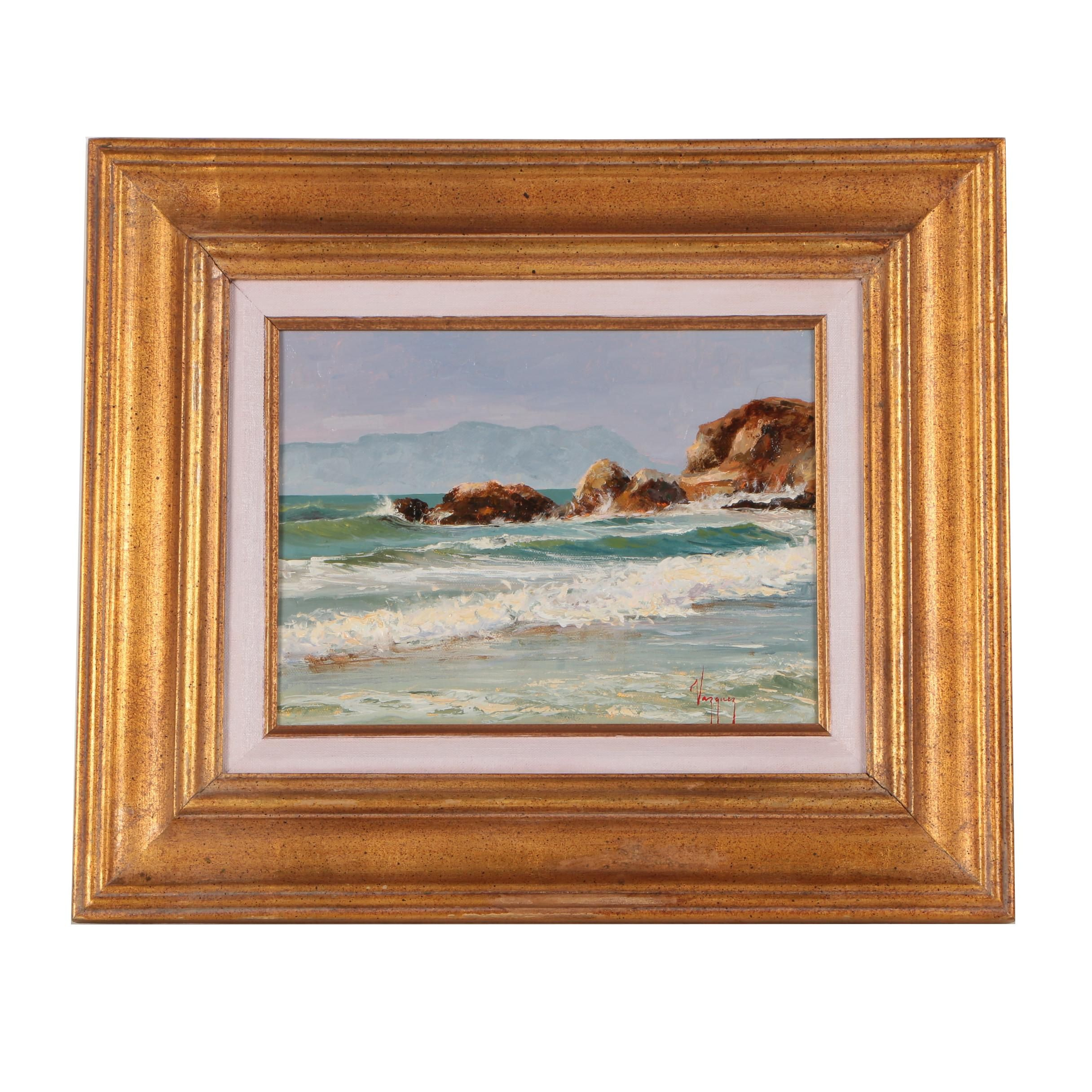 Marco Antonio Vazquez Seascape Oil Painting