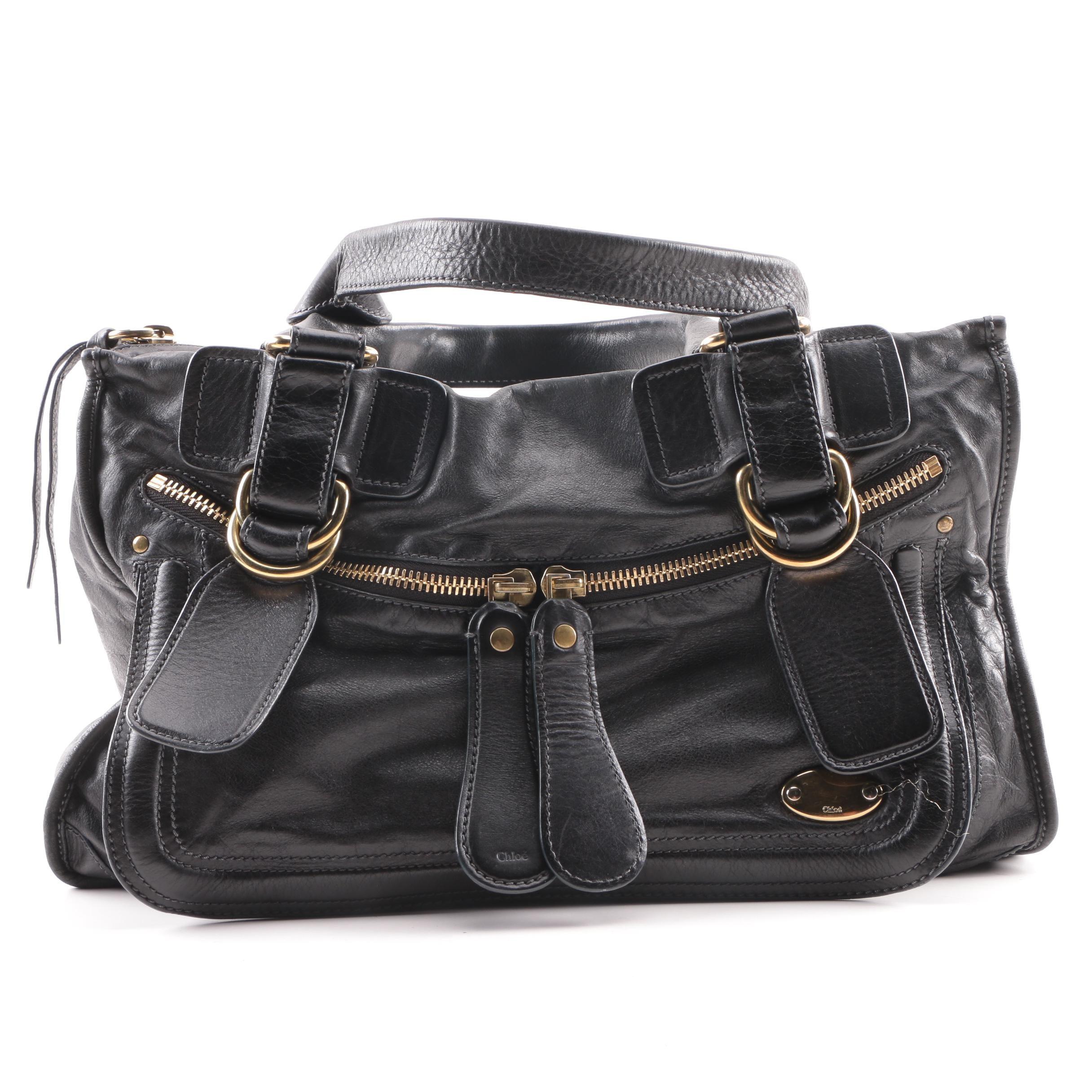 Chloé Black Leather Satchel