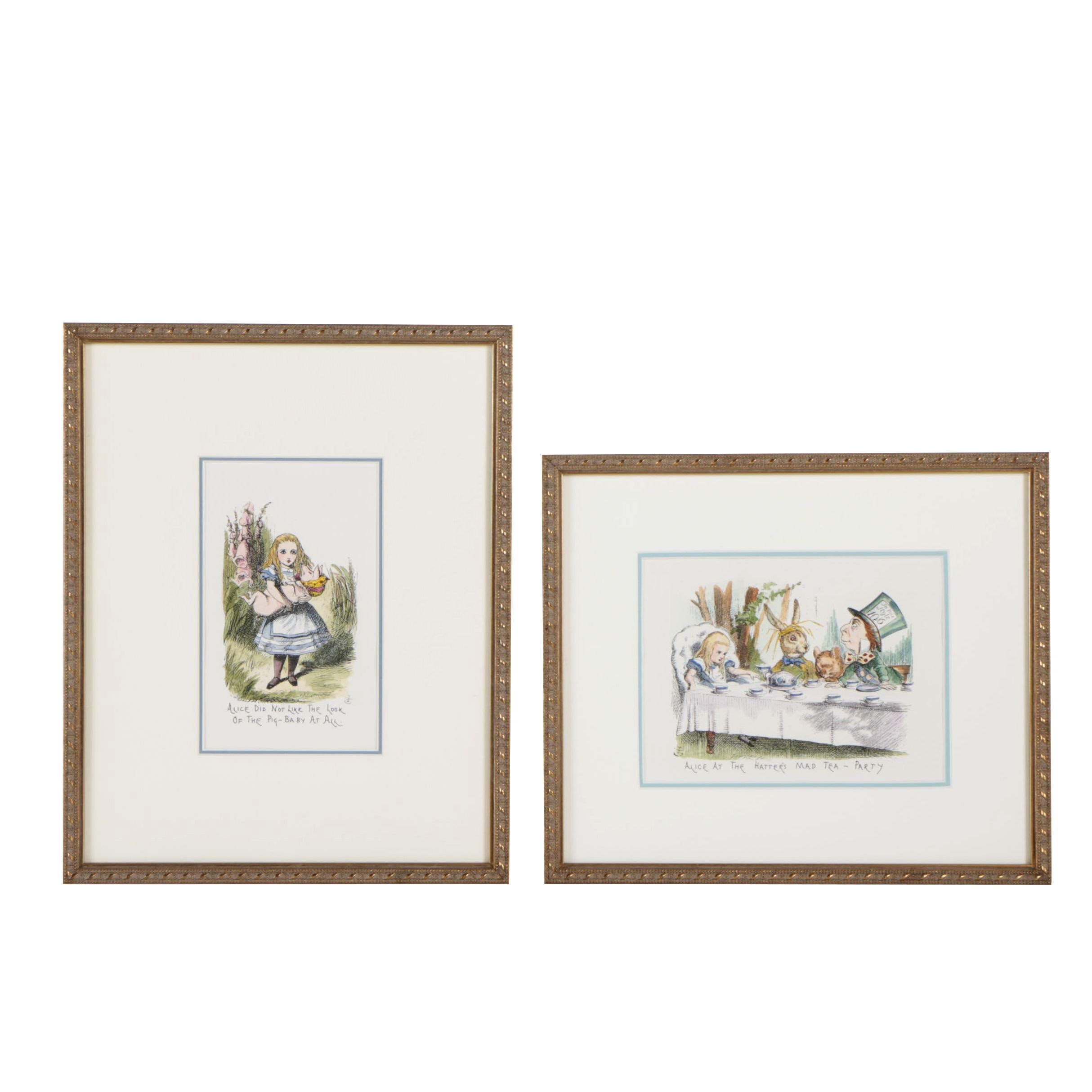 Hand-Colored Photolithographs after John Tenniel