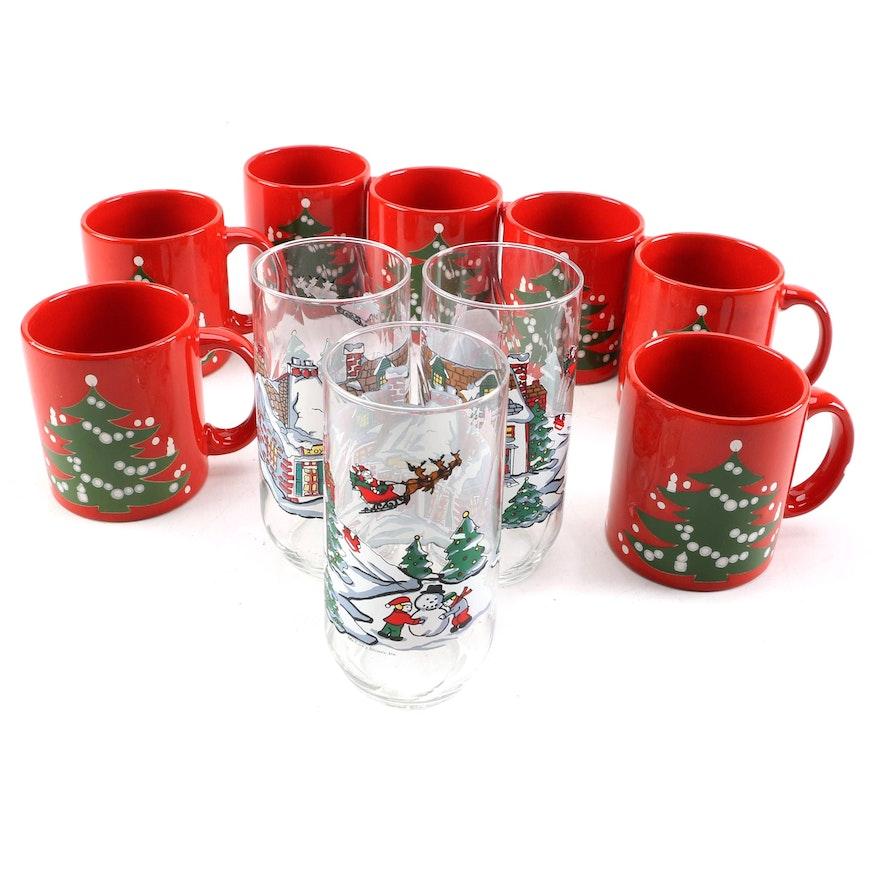 "Waechtersbach ""Christmas Tree"" Mugs with Coca-Cola Glass ..."