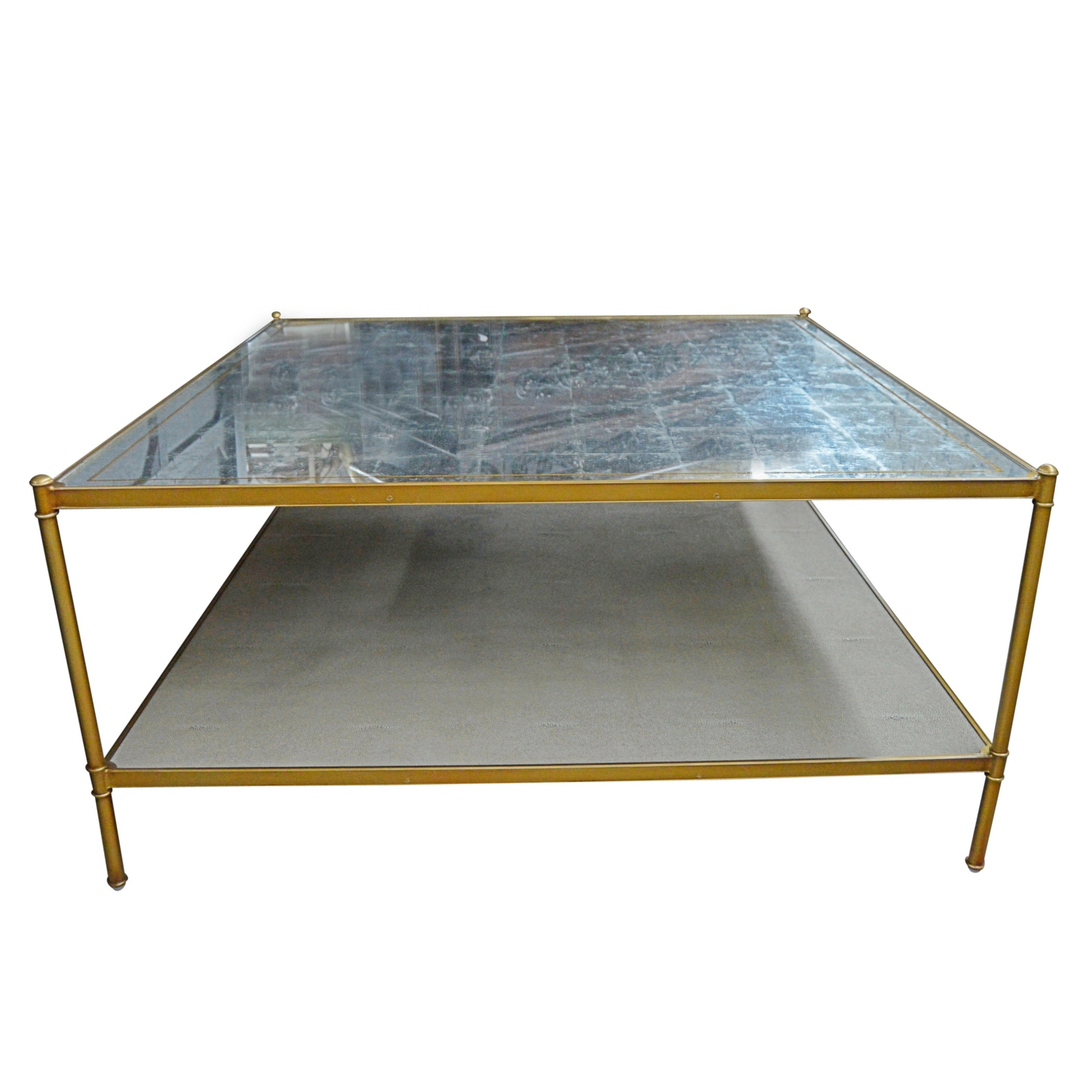 Contemporary Mirror Top Table by Lillian August