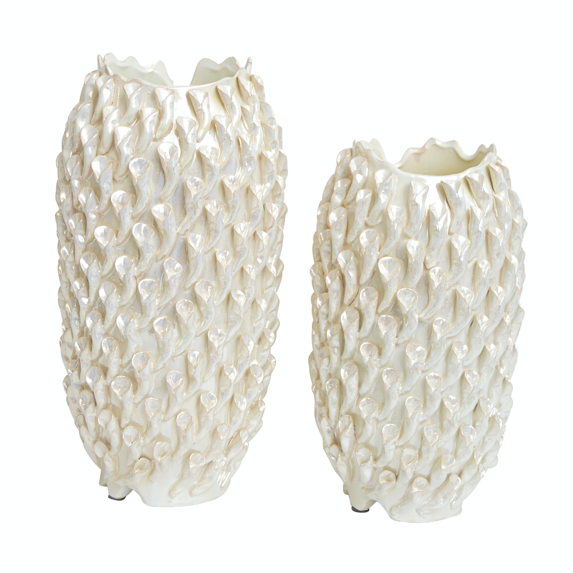 Pair of Contemporary Porcelain Vases