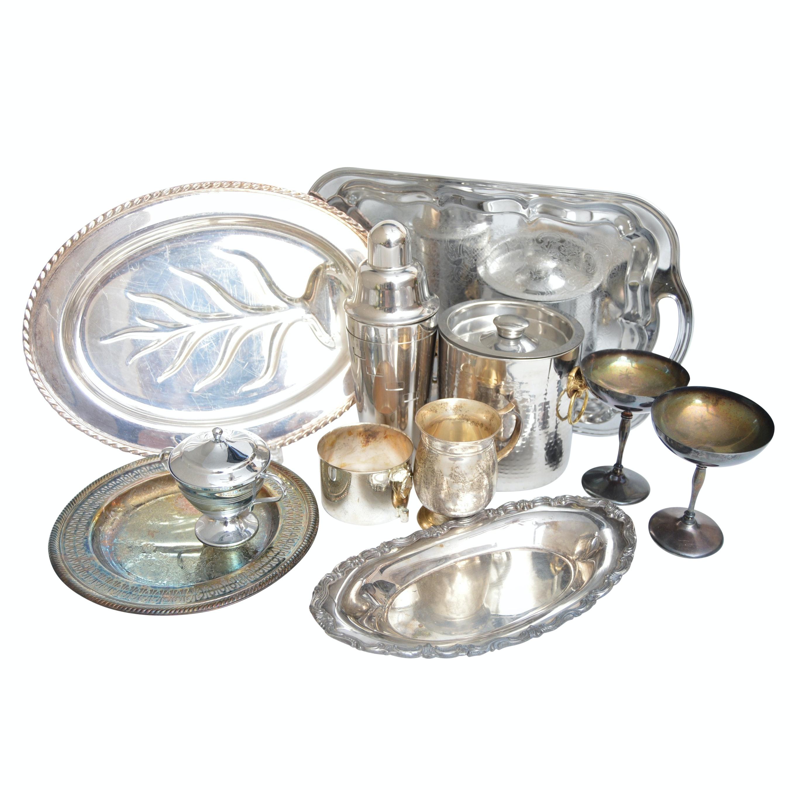 Silverplate Serveware and Barware