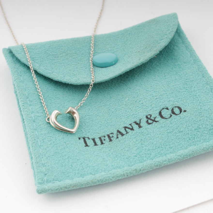 Tiffany & Co. Paloma Picasso Sterling Silver Heart Necklace
