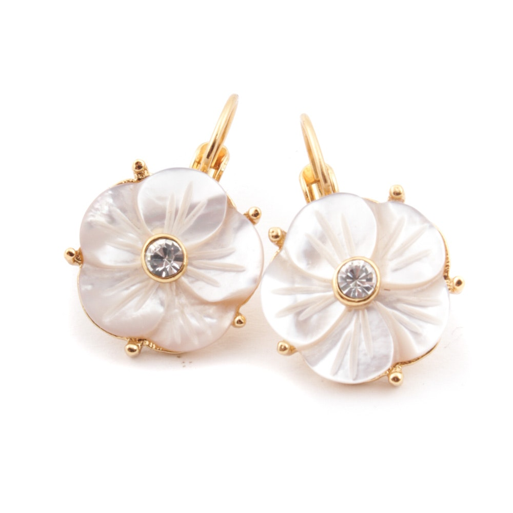 Kate Spade Mother of Pearl Flower Earrings