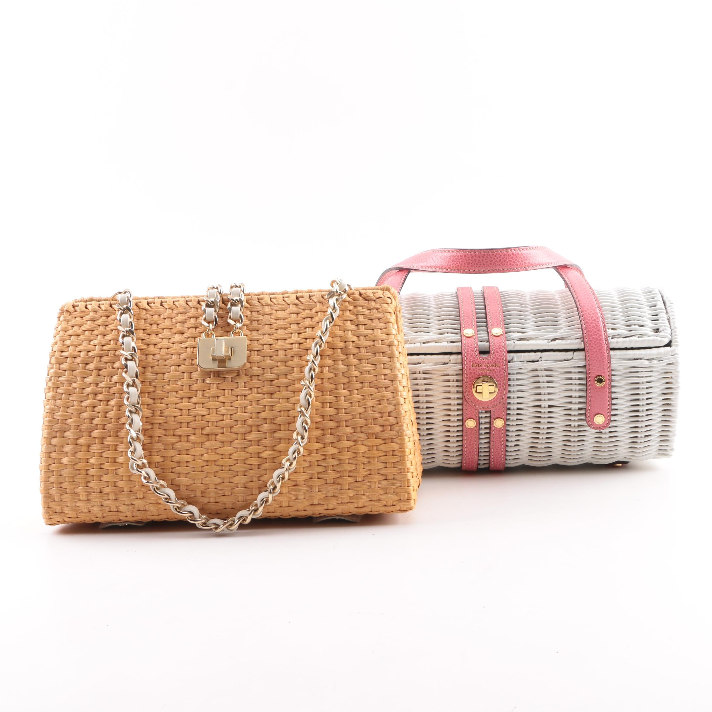 Kate Spade New York and Ann Taylor Wicker Basket Bags
