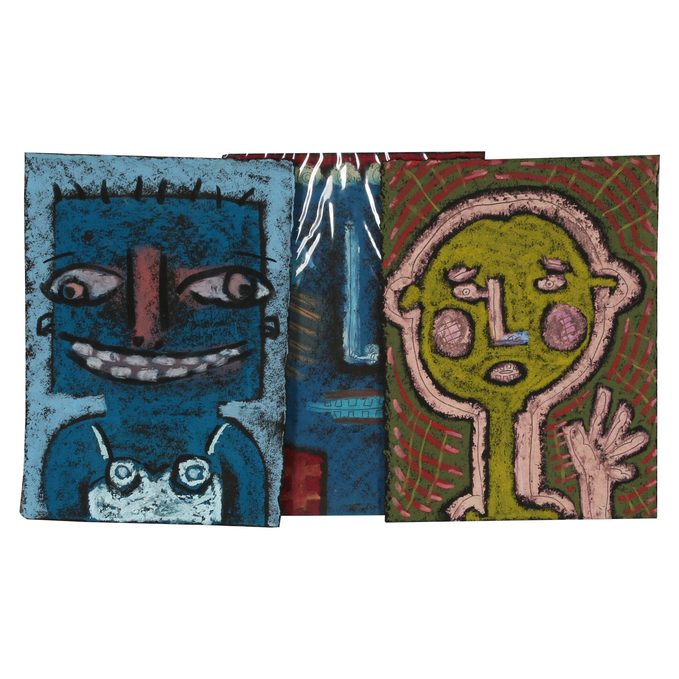 Merle Rosen Pastel Portrait Drawings