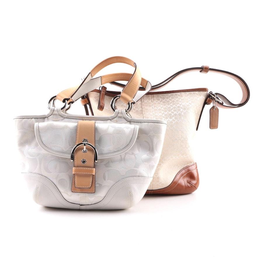 Coach Signature Canvas Handbags Including Soho Optic Mini Tote