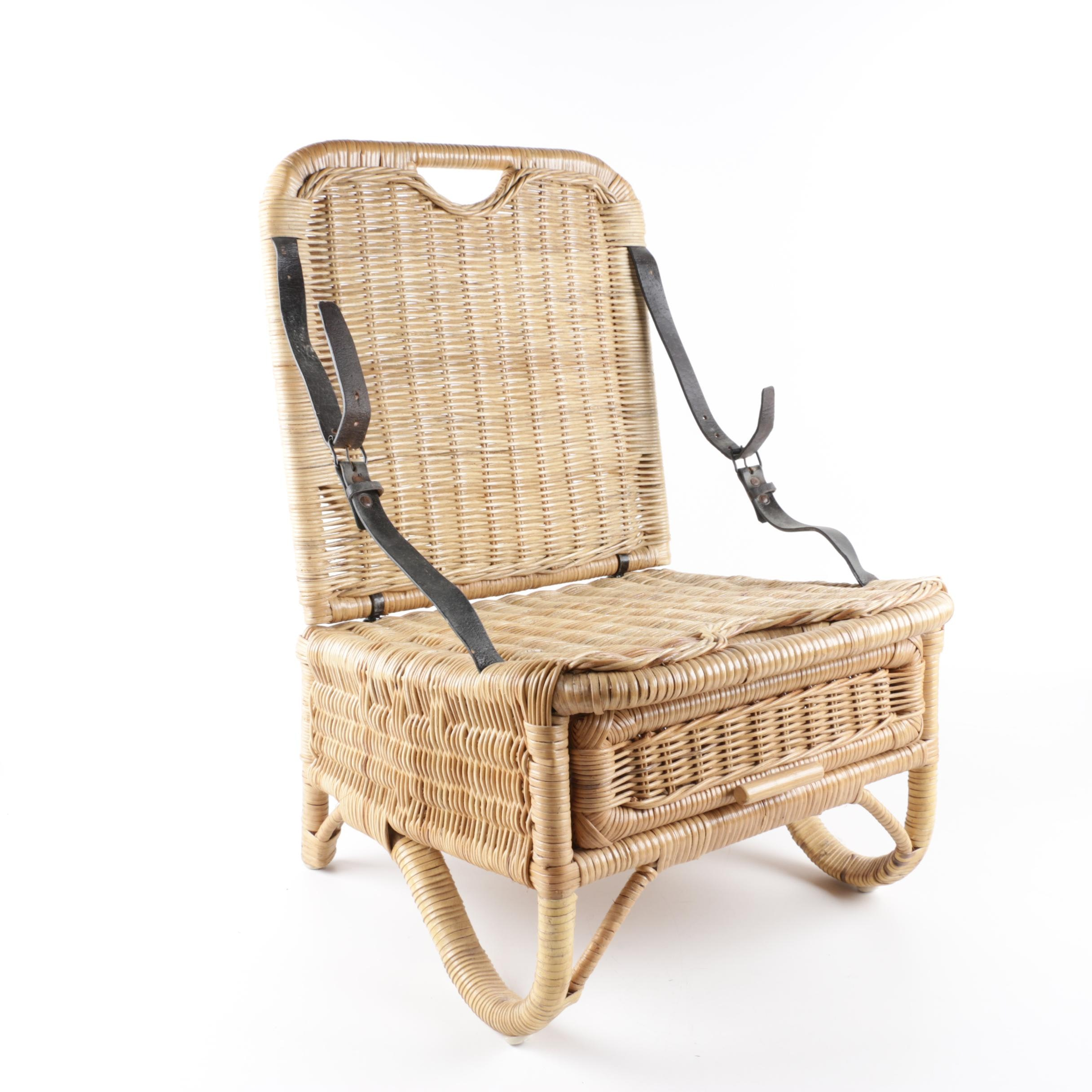 Wicker Weave Picnic Basket Chair
