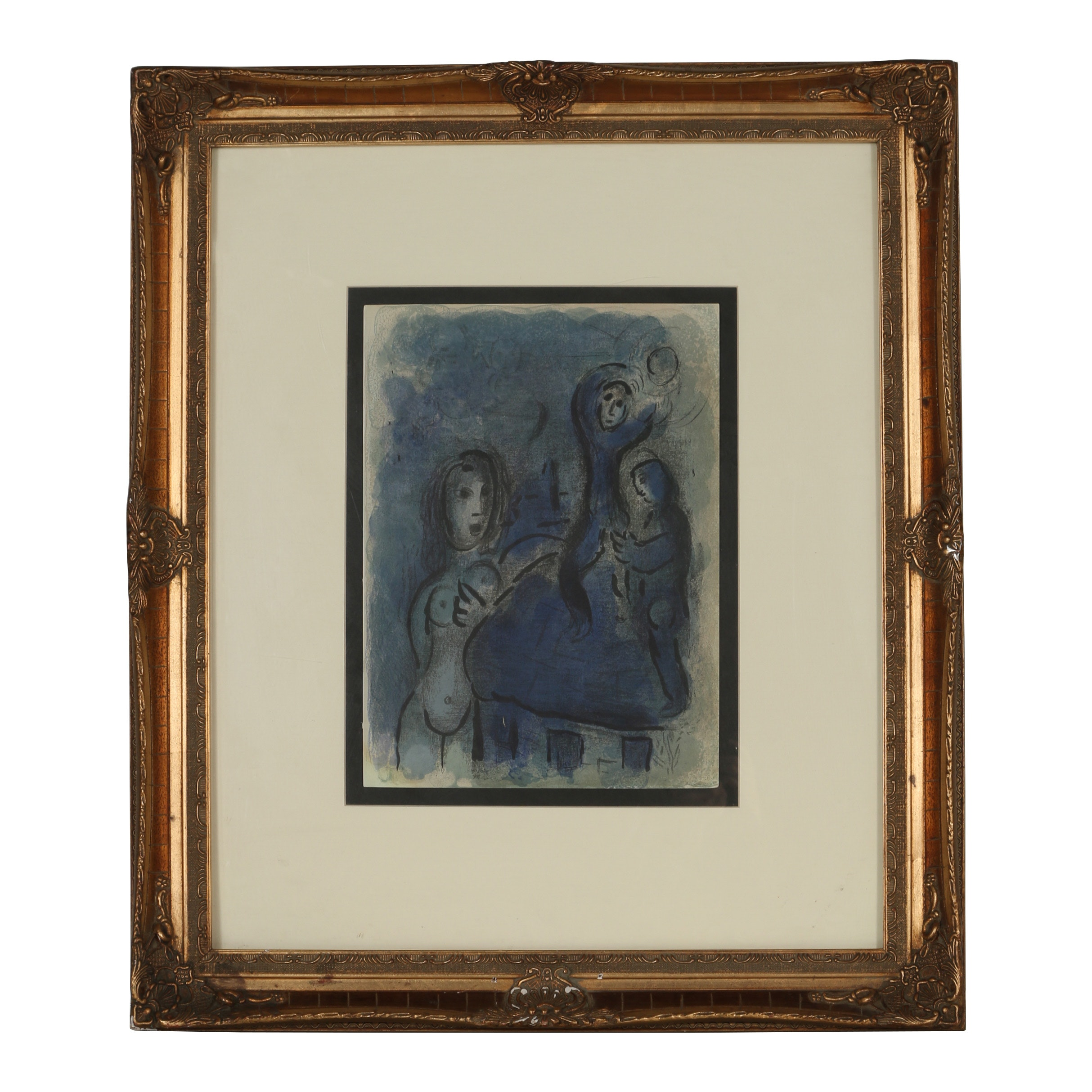 """Marc Chagall Lithograph """"Rahab and the Spies of Jericho"""""""
