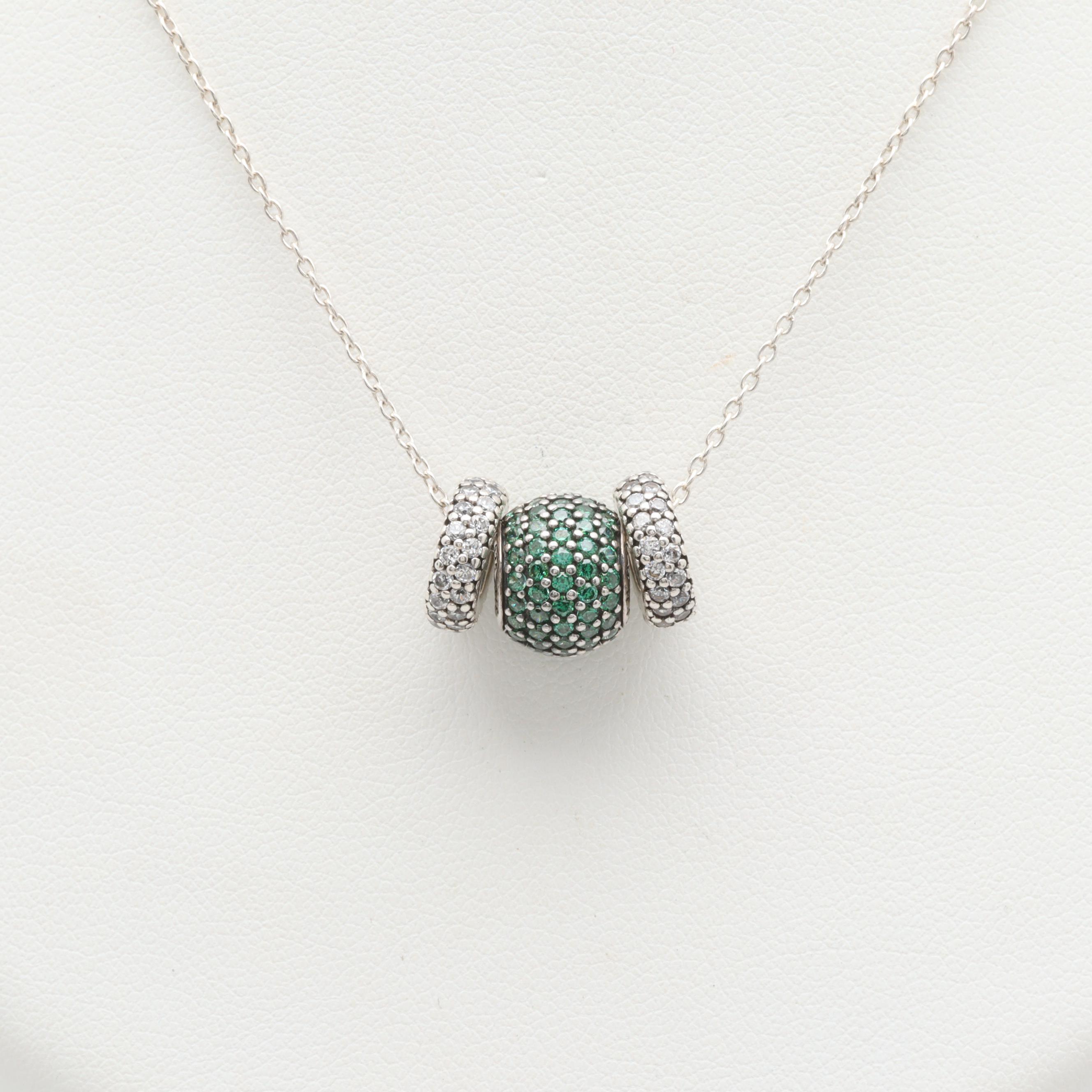 Pandora Sterling Silver Cubic Zirconia Necklace