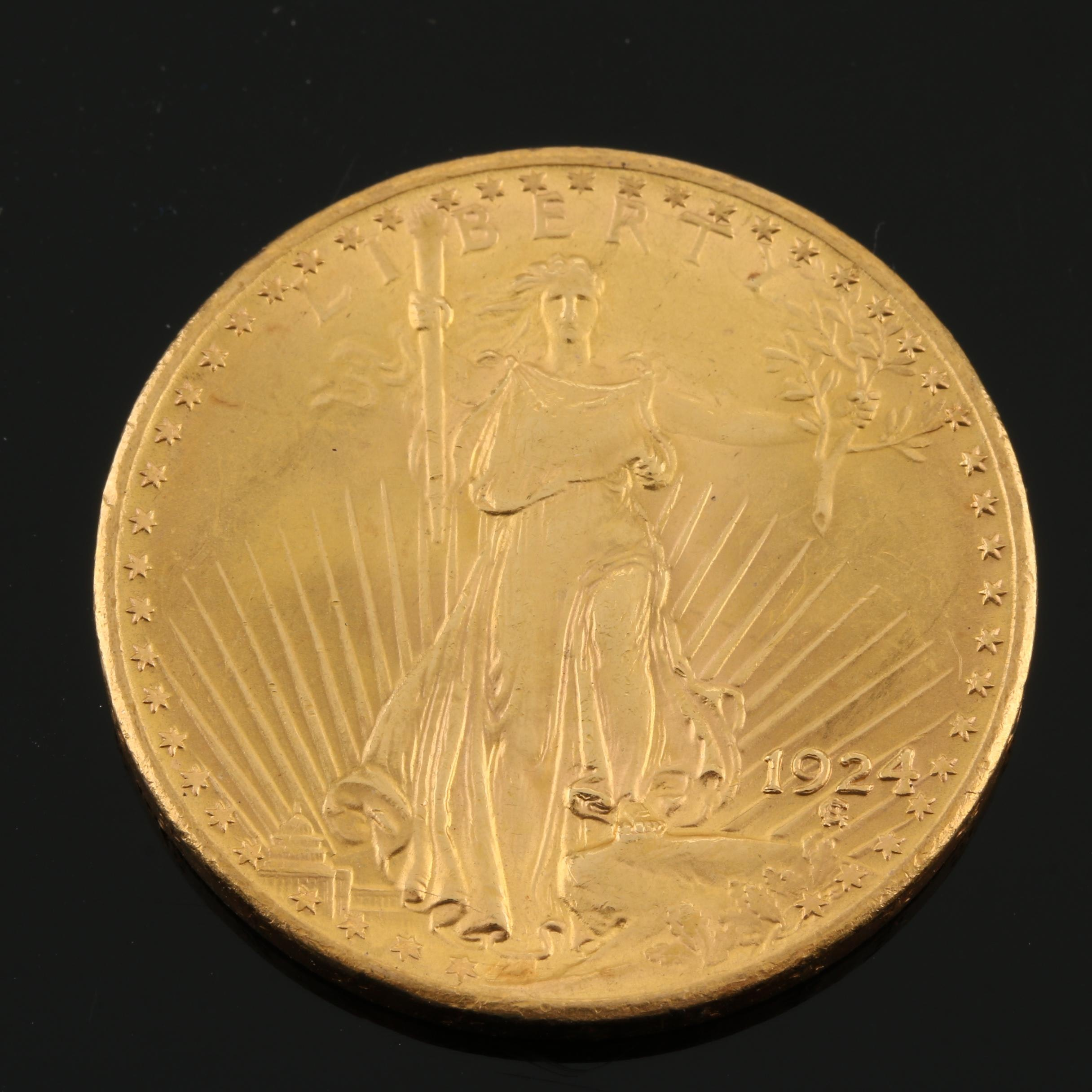 1924 Saint-Gaudens $20 Gold Double Eagle