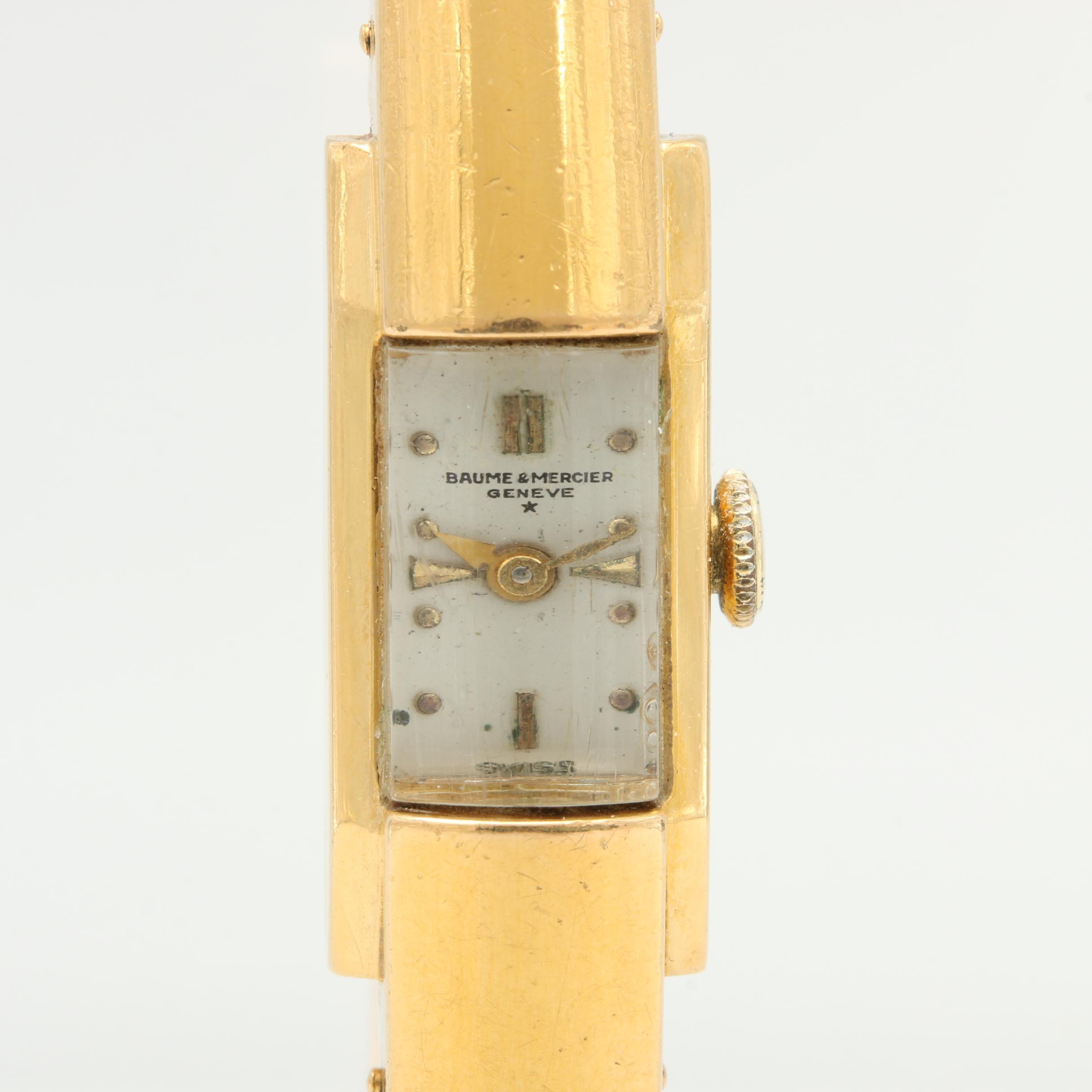 Baume & Mercier Geneve Spring Bangle Bracelet Stainless Steel Wristwatch