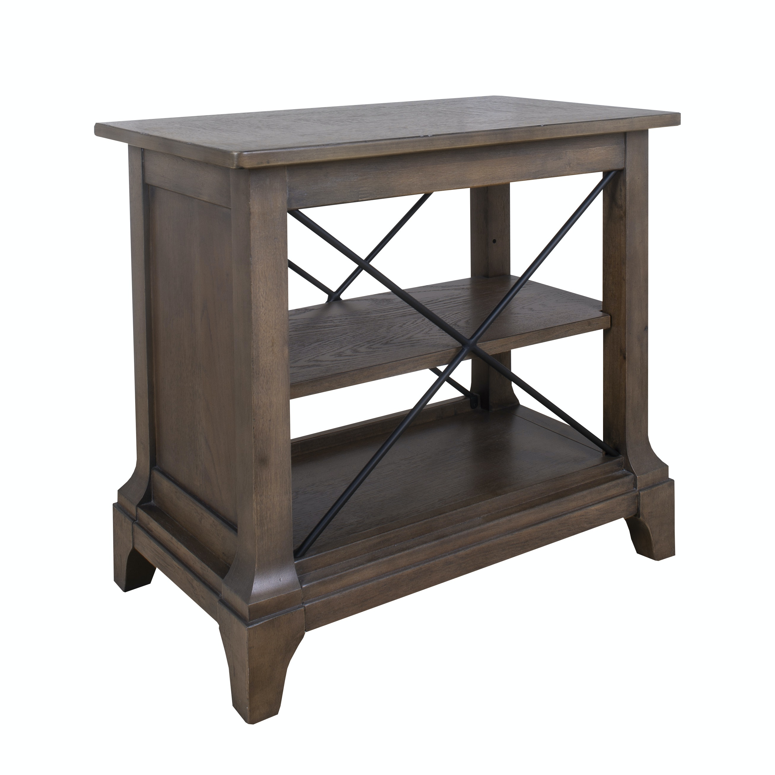 Contemporary Shelved Accent Table