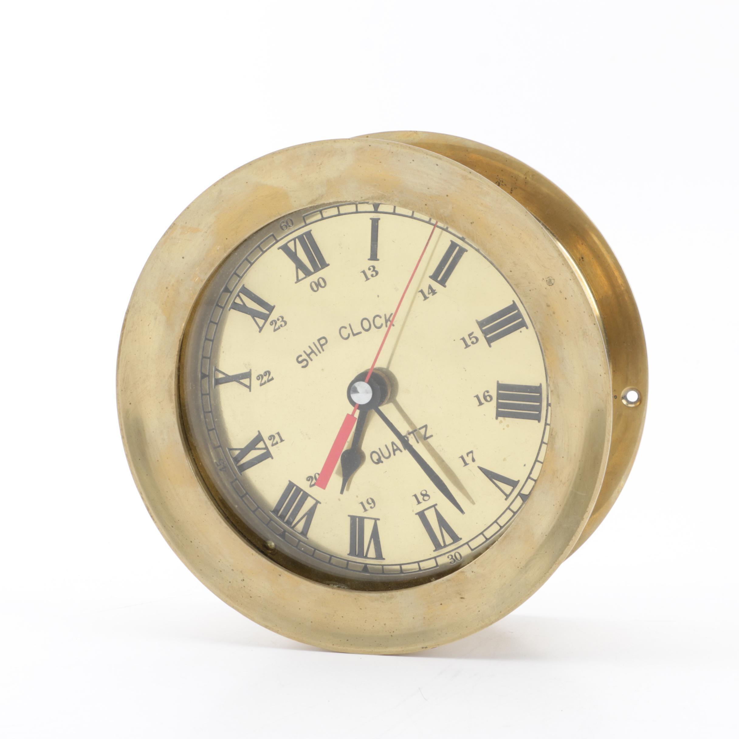 Brass Maritime Ship Clock
