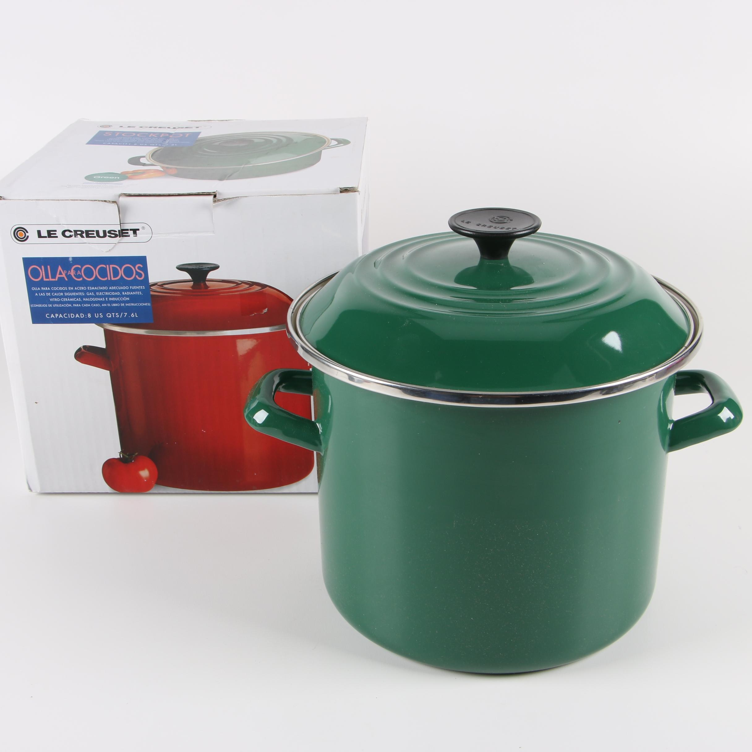 Le Creuset Green 8-Quart Enamel Stockpot and Cover
