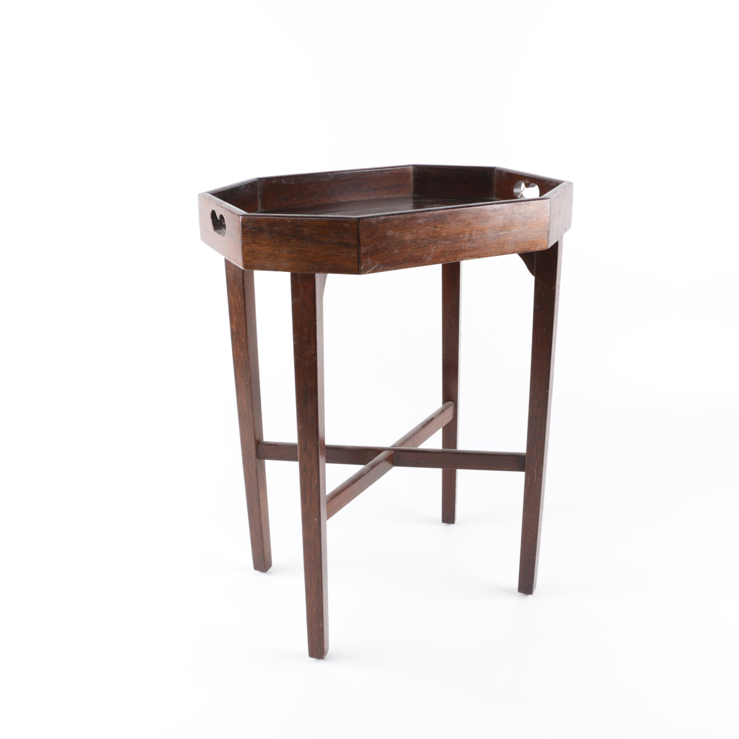 Vintage Walnut Accent Table