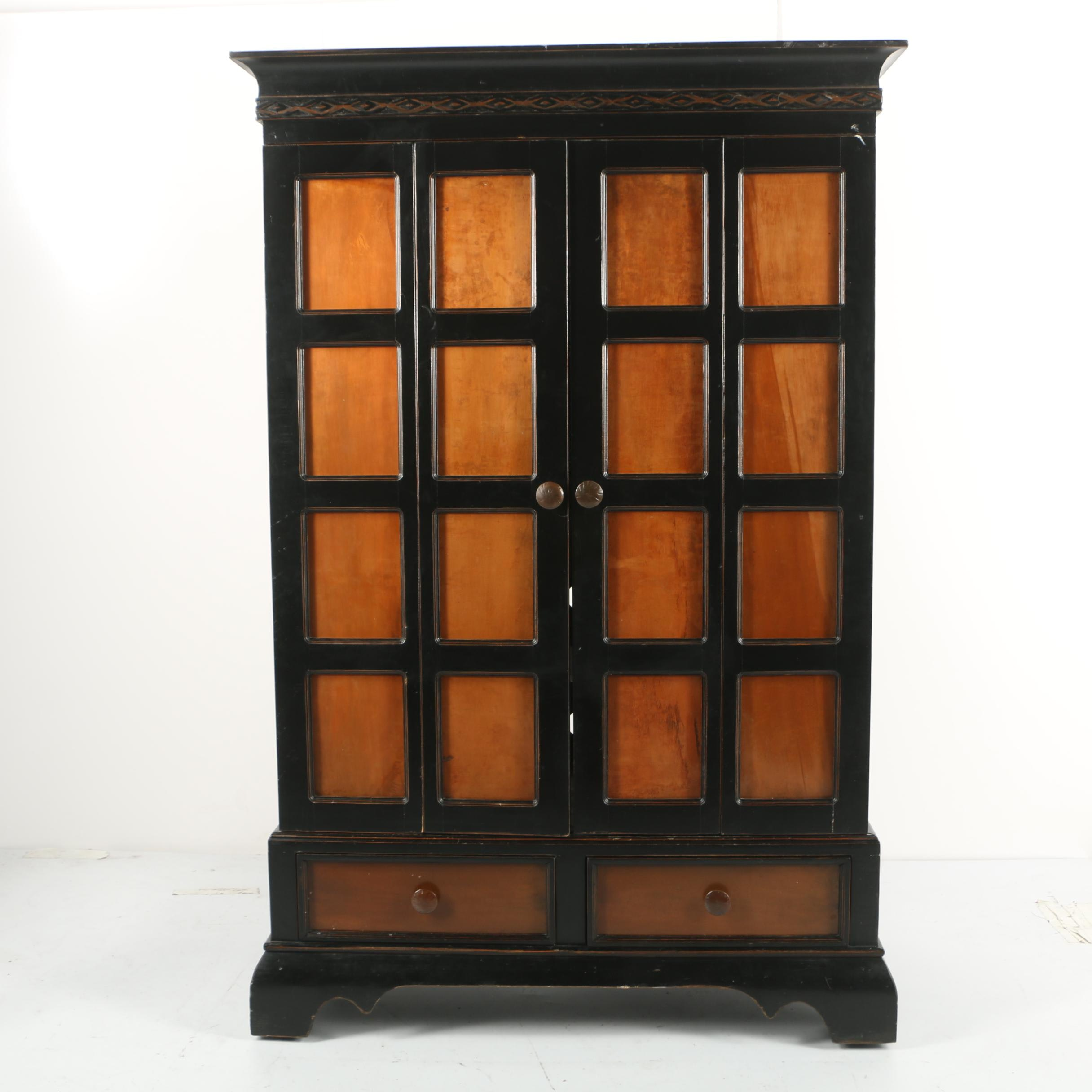 Contemporary Painted Media Cabinet