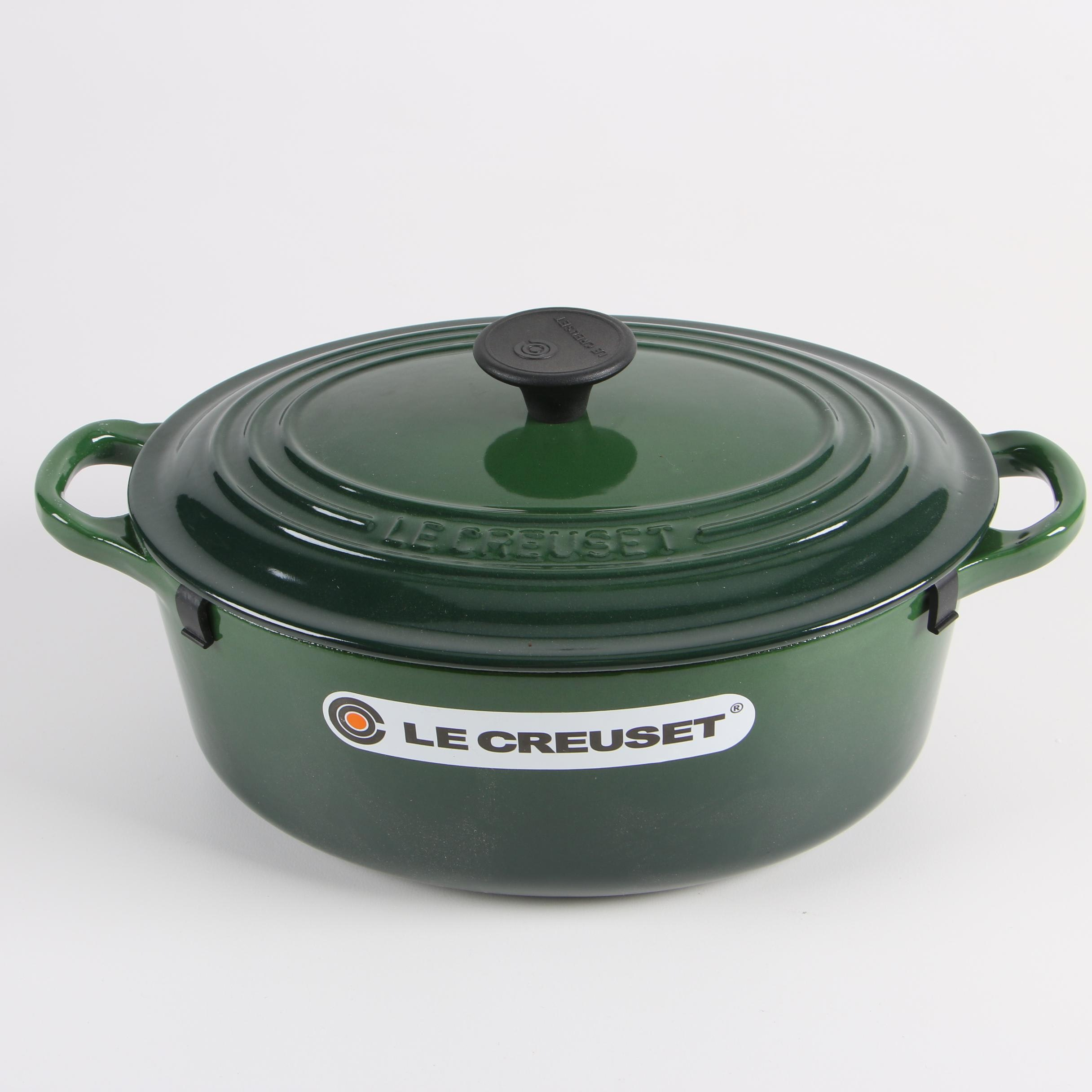 Le Creuset Dark Green Enameled Cast Iron Casserole Dish